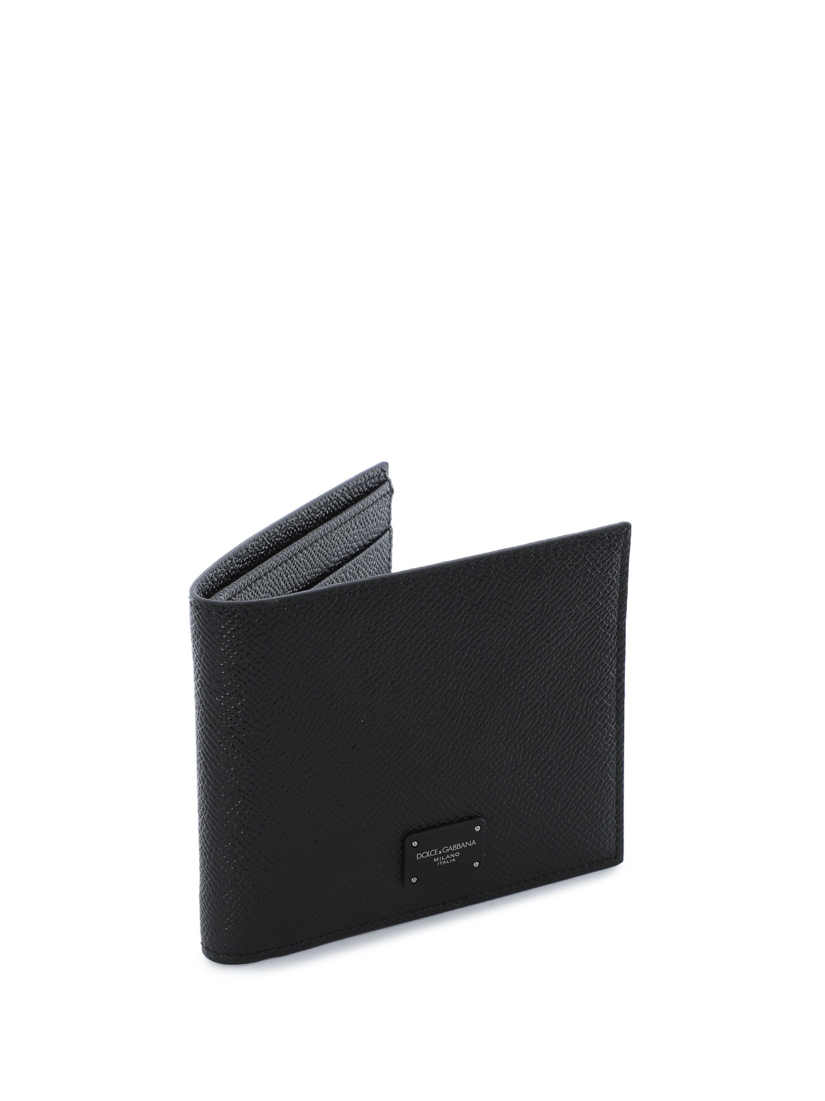 10f79ef7dd7 DOLCE & GABBANA: wallets & purses online - Black Dauphine leather wallet
