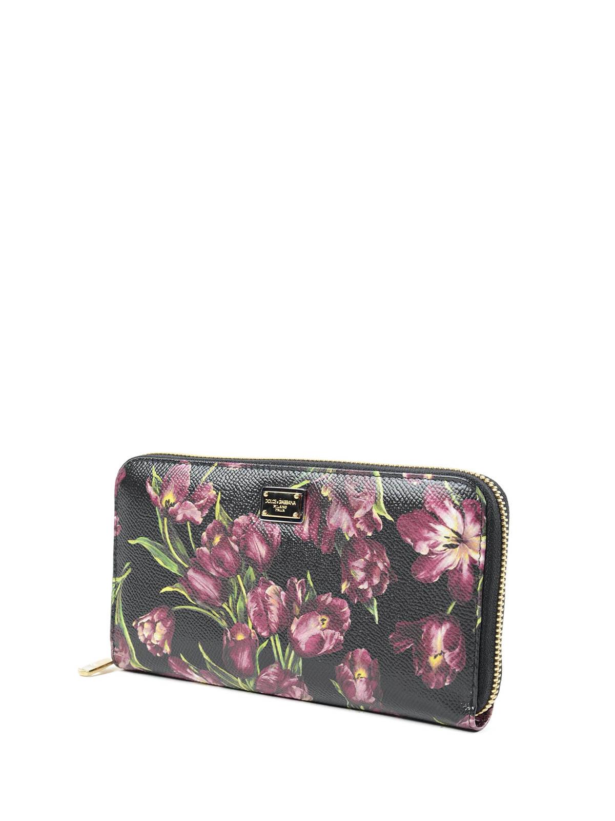 132ec1baab DOLCE & GABBANA: portafogli online - Portafoglio stampa tulipani