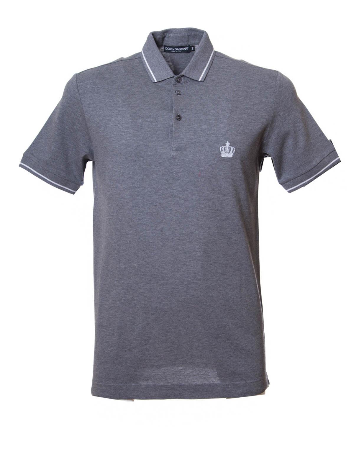 Cotton Polo Shirt By Dolce Gabbana Polo Shirts Ikrix