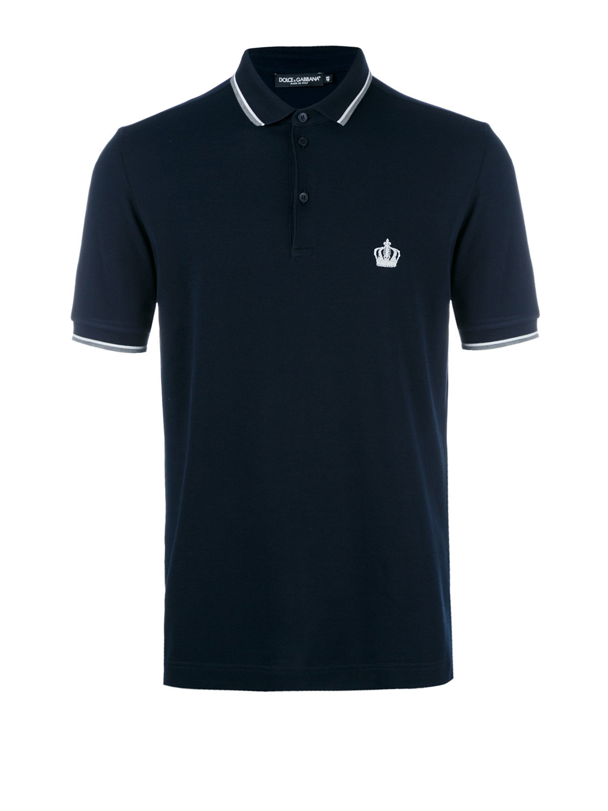 Crown embroidered polo shirt by dolce gabbana polo for Polo shirts with embroidery