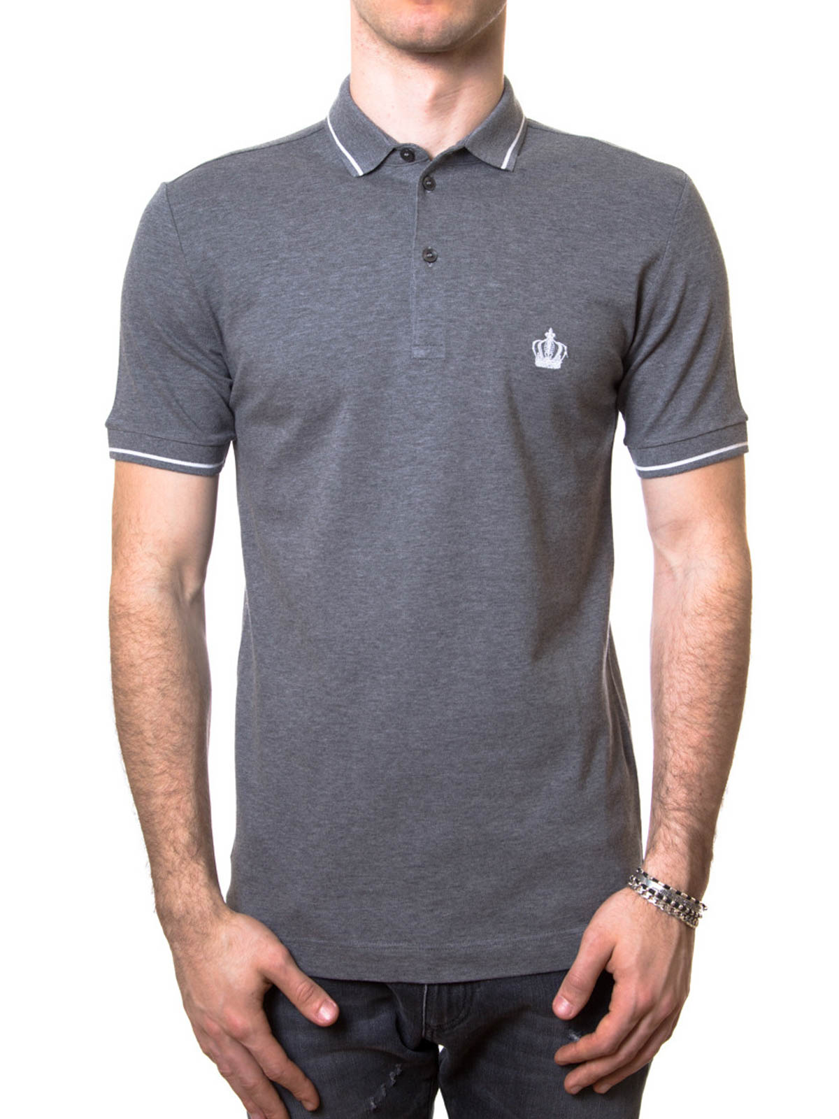 Cotton Polo Shirt By Dolce Amp Gabbana Polo Shirts Ikrix