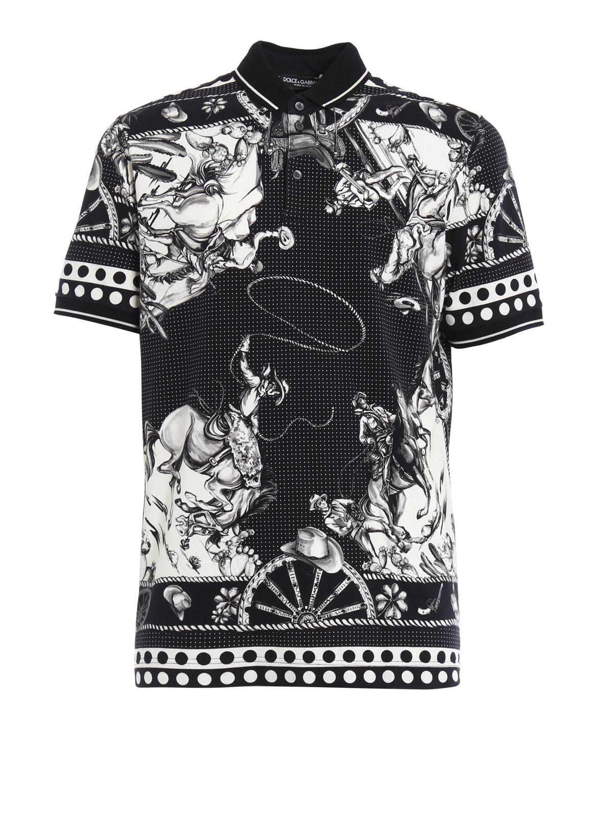 a535b1e45655 Dolce   Gabbana - Sicilian western polo shirt - polo shirts ...