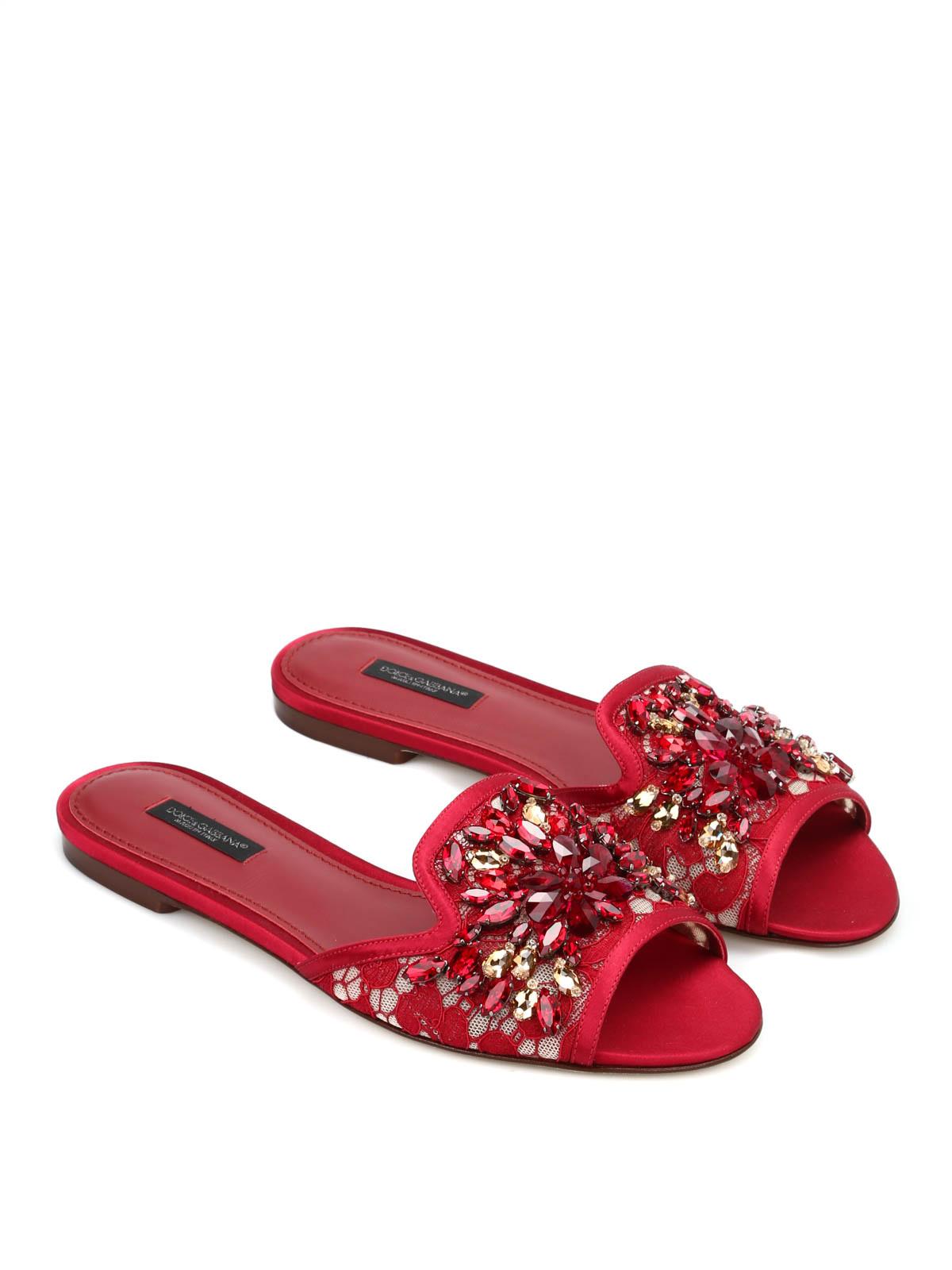 48a0161075e75d Dolce   Gabbana - Jewel macramé flat sandals - sandals - CQ0022 ...