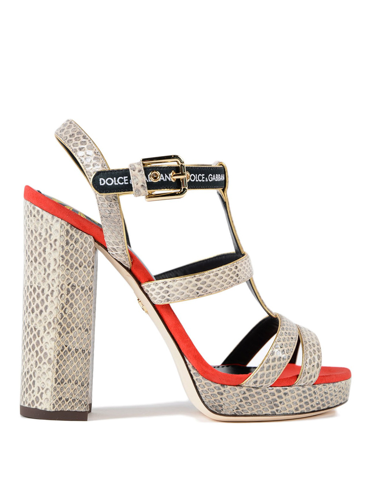 4693facc0347f Dolce   Gabbana - Keira ayers and suede heeled sandal - sandals ...