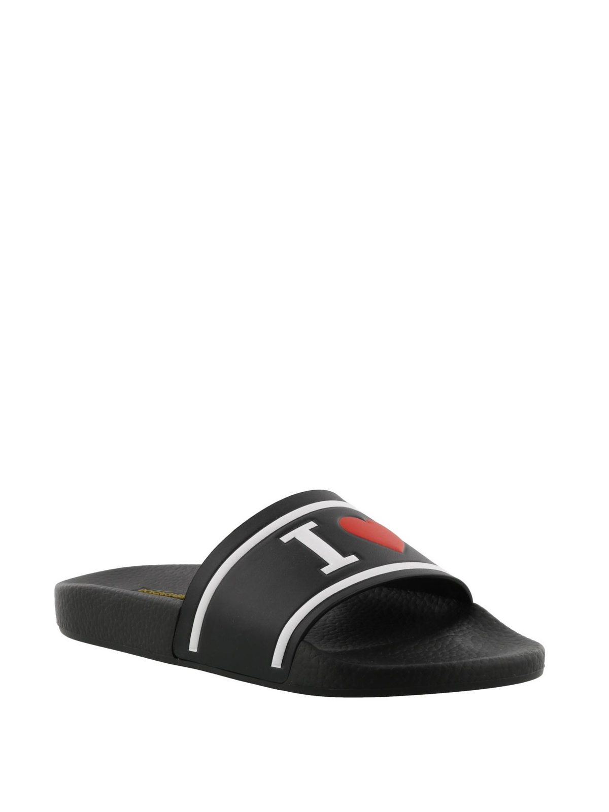 Dolce & Gabbana Sandals SAINT BARTH leather logo JkAgl