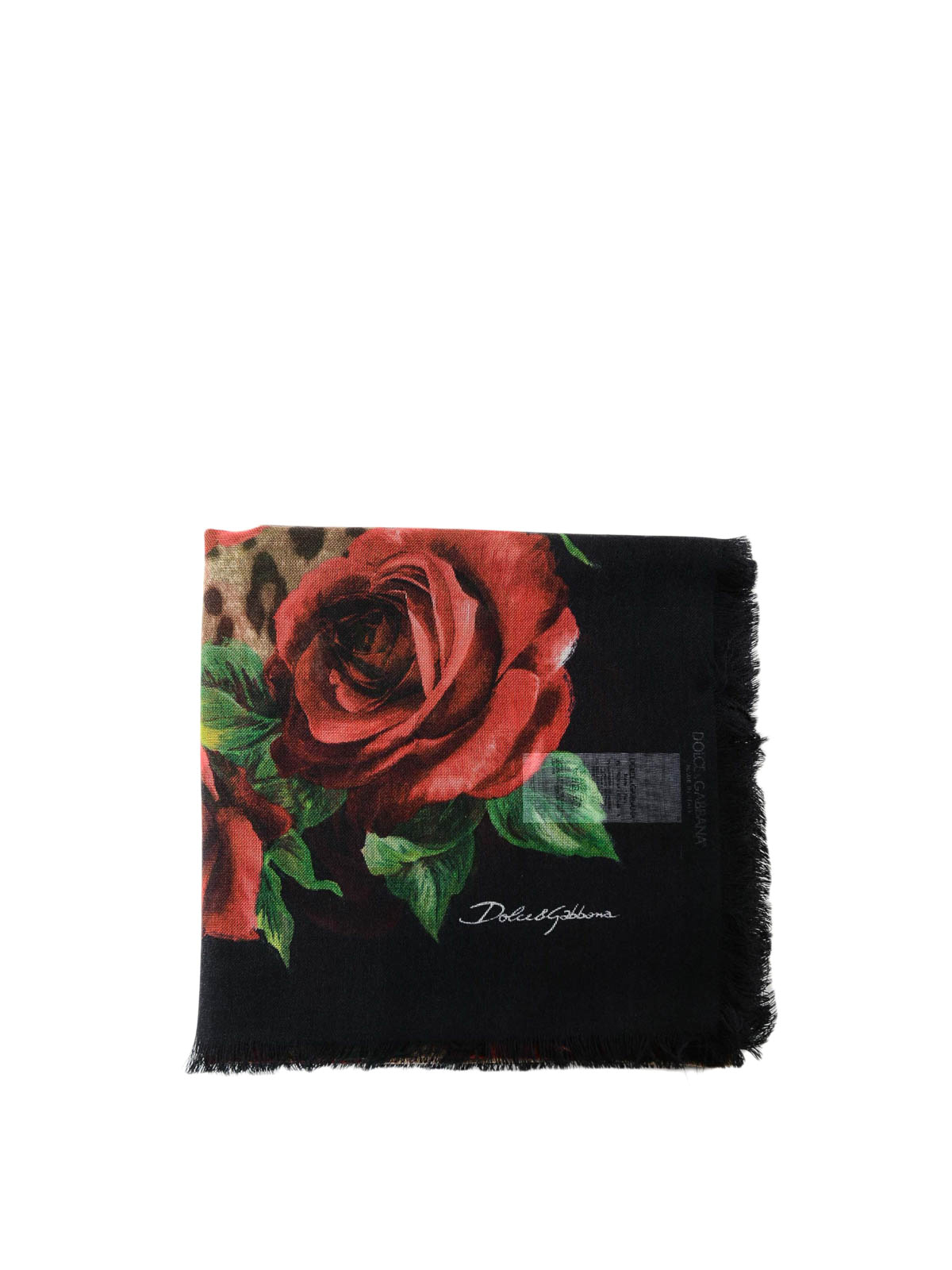 8387d6db DOLCE & GABBANA: scarves - Leo and rose printed cashmere and silk scarf