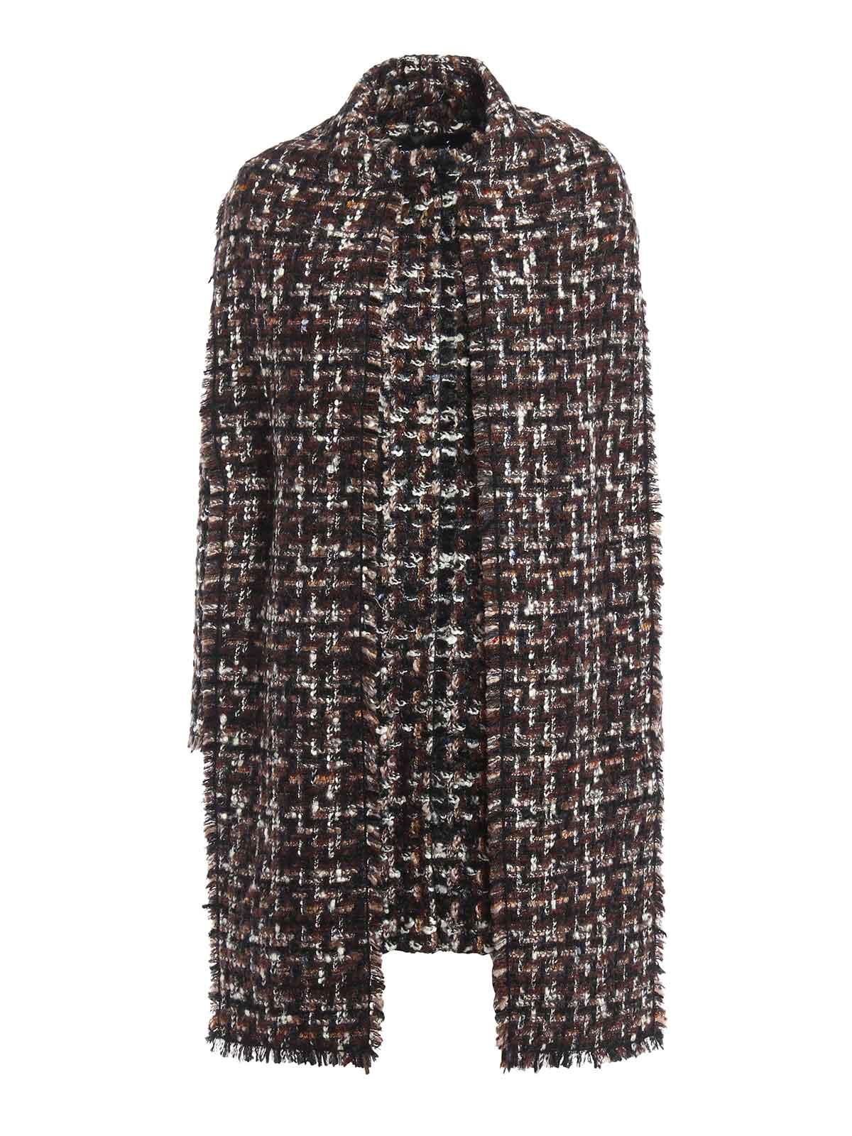 Gabbana Cortos Mujer Para Corto Abrigo Dolce Marrón amp; Abrigos SnCqwaZax