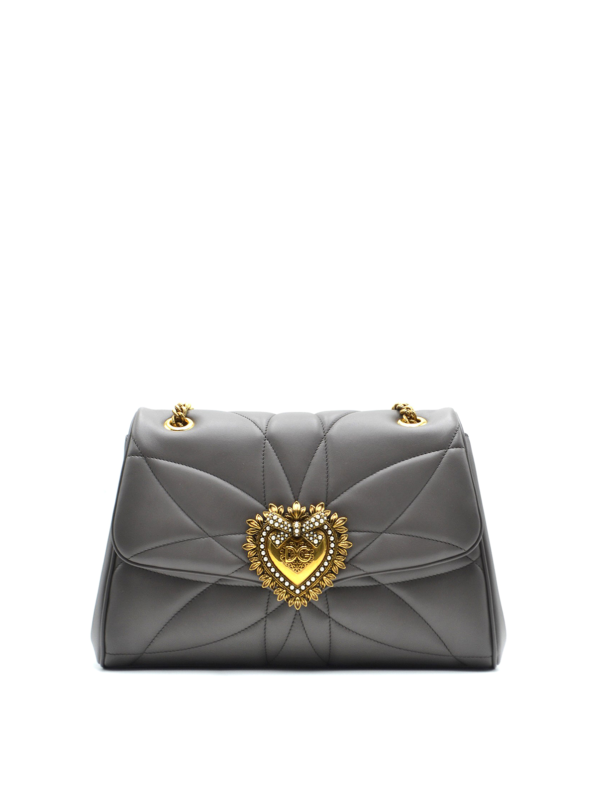 Dolce & Gabbana Devotion Grey Jewel Heart Bag