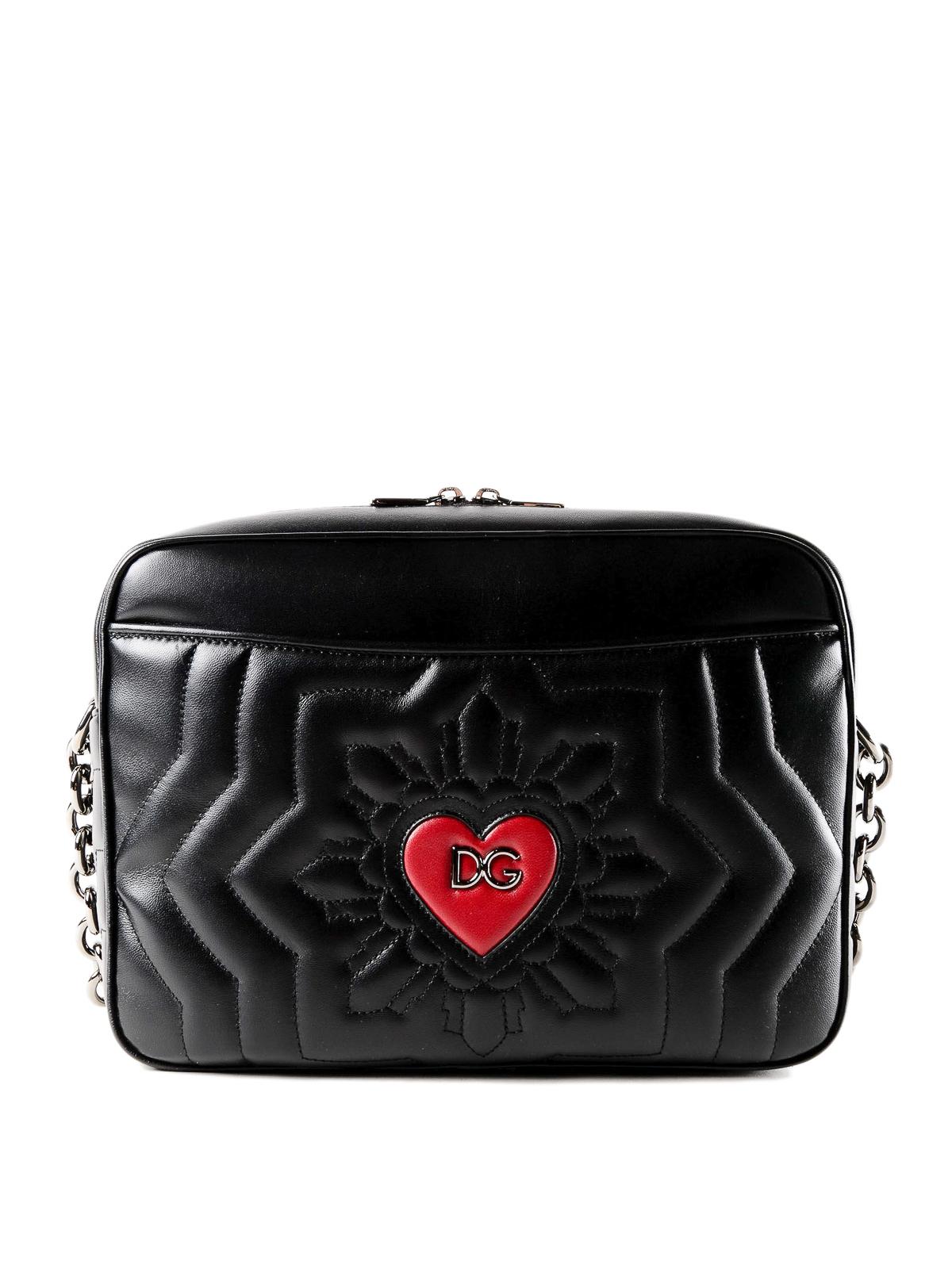 Dolce & Gabbana Logo heart matelasse leather tote kadcA9qtK