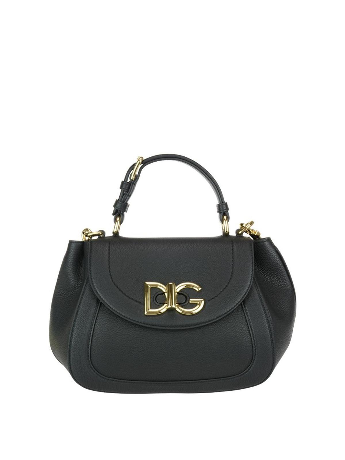 Dolce & Gabbana Black Wifi grainy leather bag 1f2SSJZ