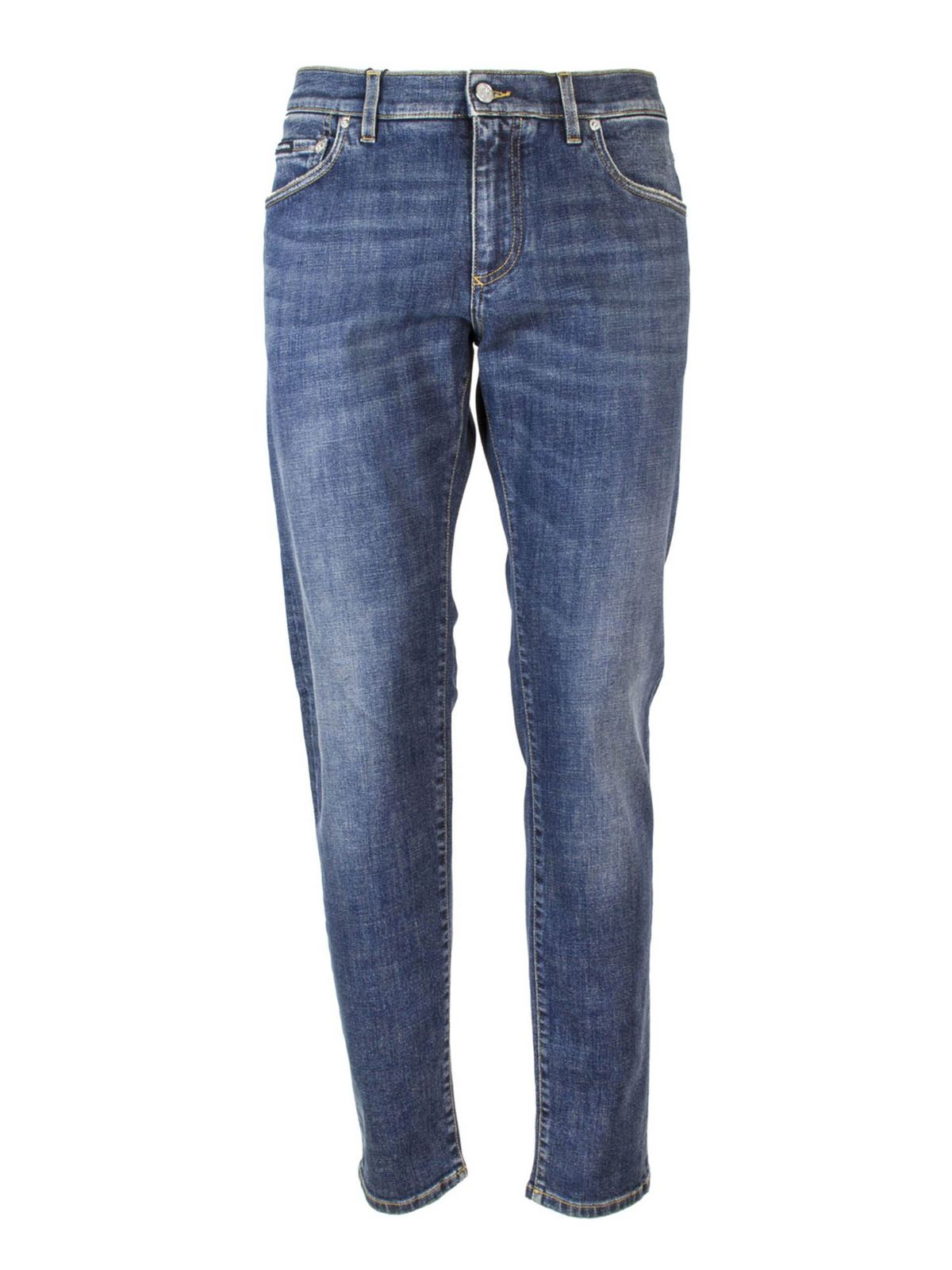 DOLCE & GABBANA SLIM FIT JEANS IN BLUE