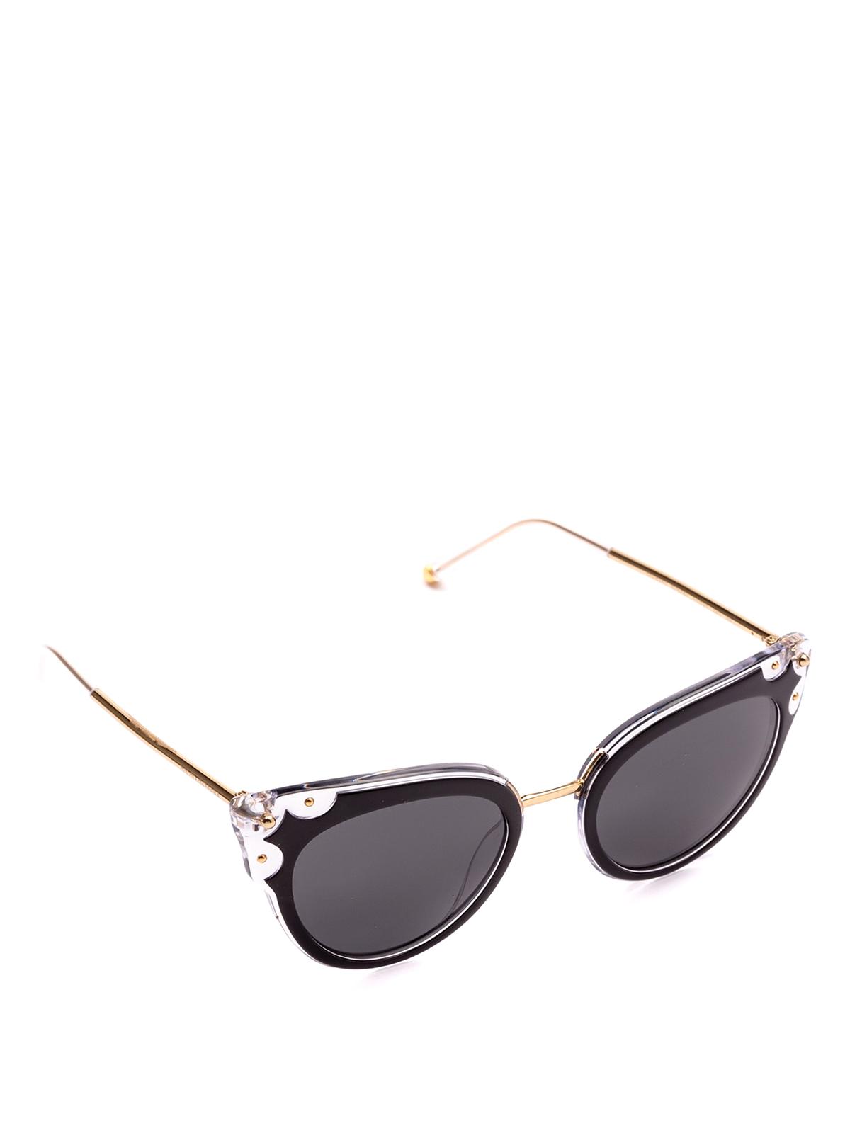 74a64c737ef5fc DOLCE   GABBANA  occhiali da sole - Occhiali a occhi di gatto neri e  trasparenti