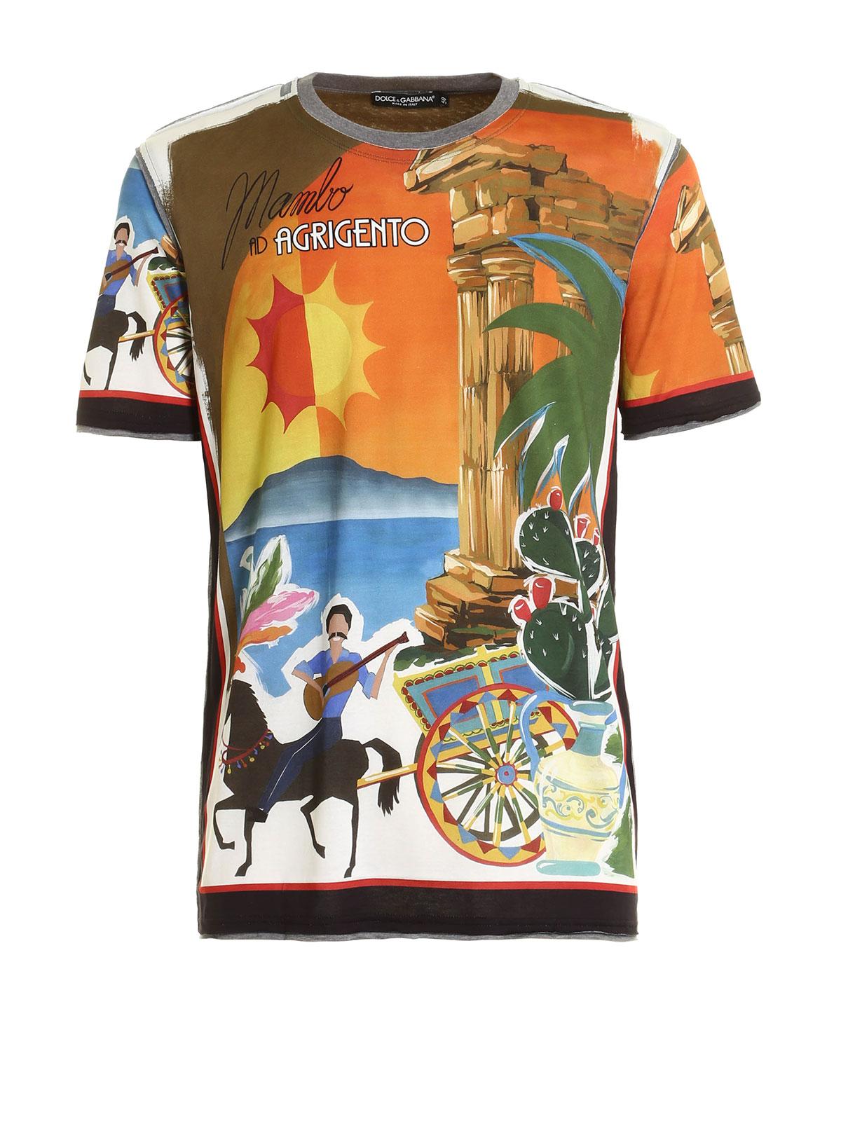 livraison gratuite 21bbd 7ac6d Dolce & Gabbana - T-Shirt Agrigento Pour Homme - T-shirts ...