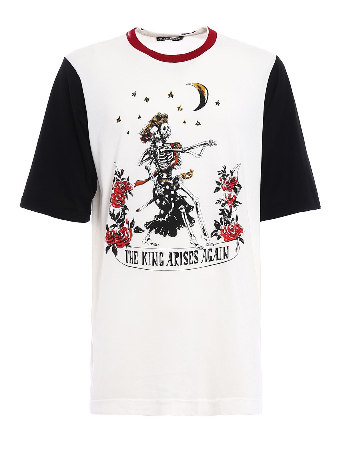 Colour block printed t shirt by dolce gabbana t shirts for Dolce and gabbana printed t shirts