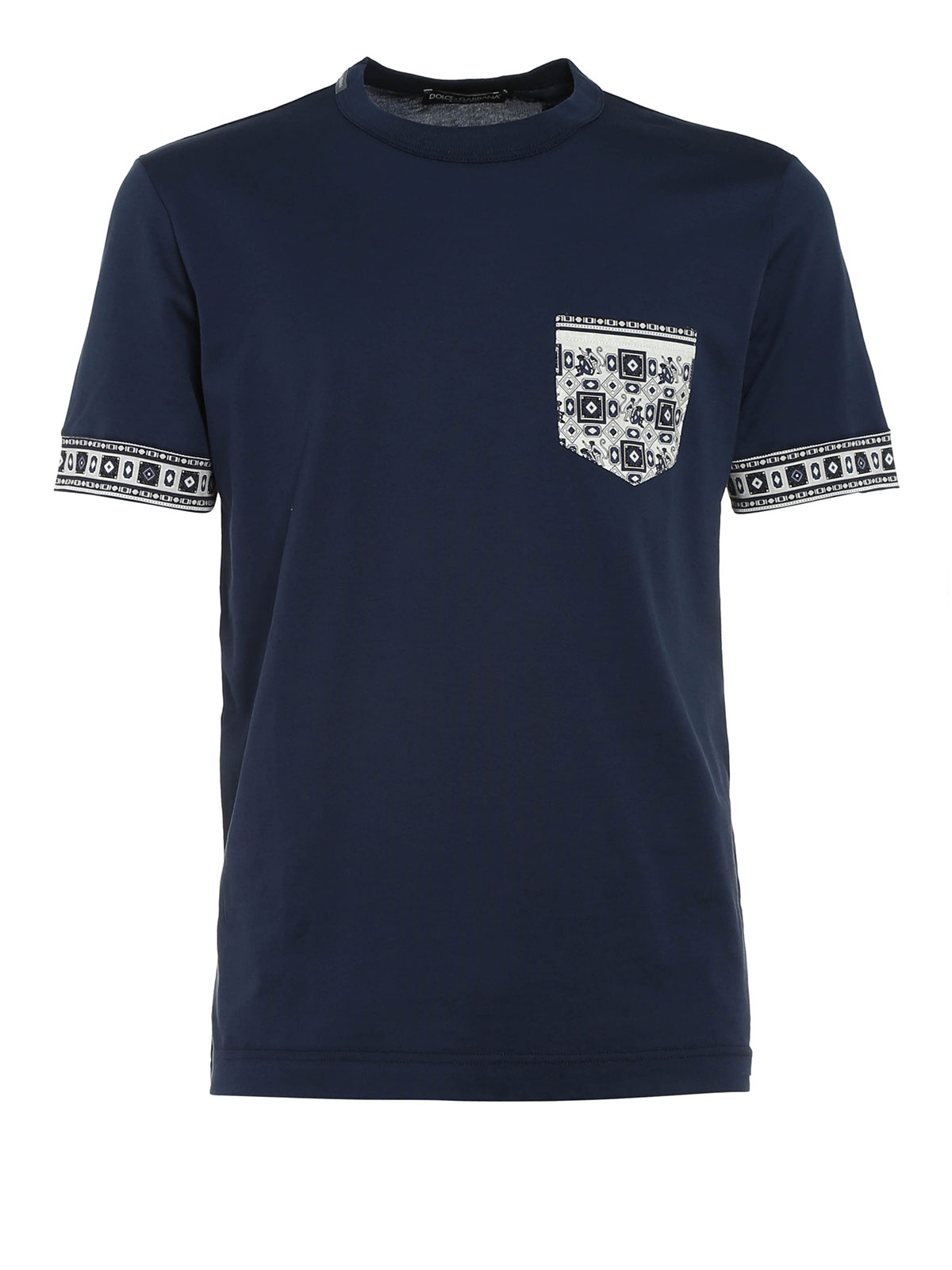 cotton t shirt with chest pocket by dolce gabbana t. Black Bedroom Furniture Sets. Home Design Ideas