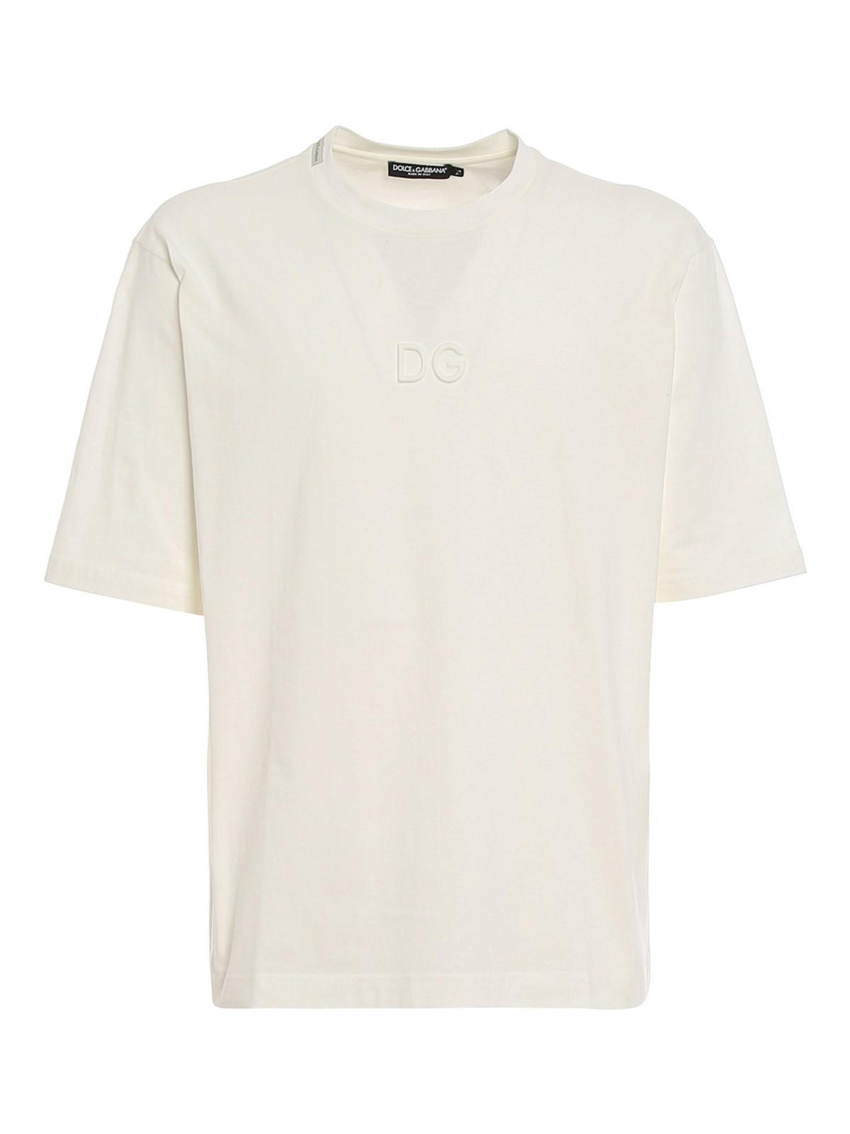 Dolce & Gabbana Cottons EMBOSSED LOGO T-SHIRT