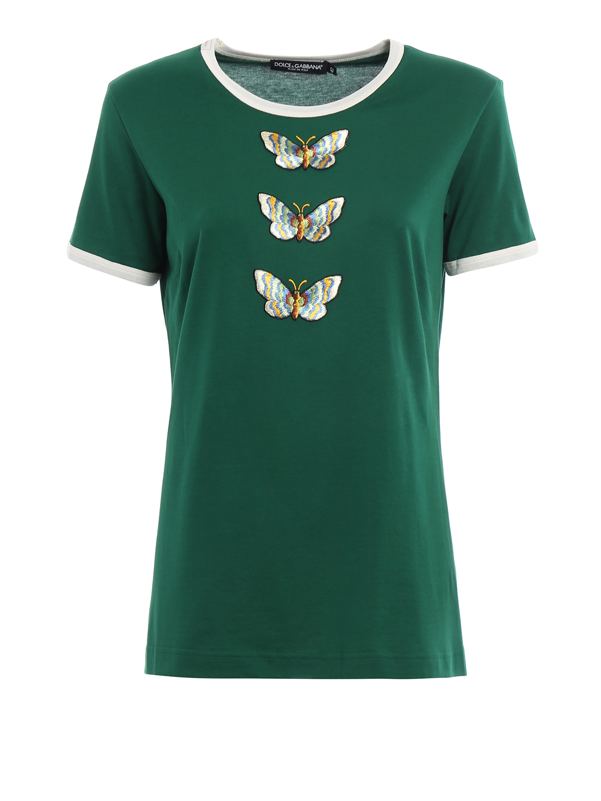 Embroidered butterfly patches tee by dolce gabbana t