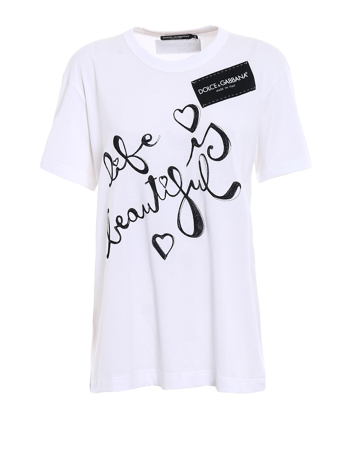 jersey logo detailed t shirt by dolce gabbana t shirts ikrix. Black Bedroom Furniture Sets. Home Design Ideas