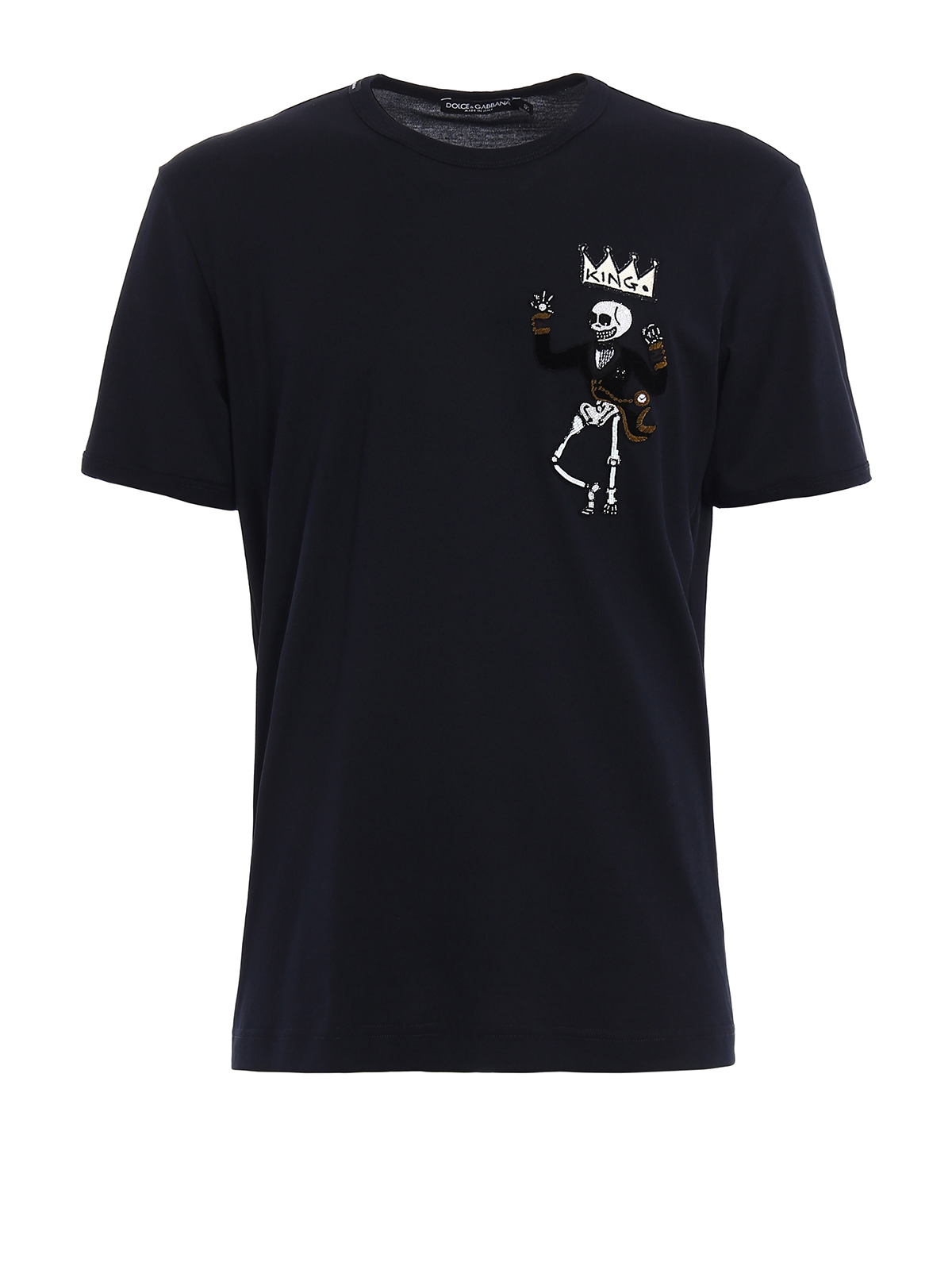 King hand embroidered t shirt by dolce gabbana