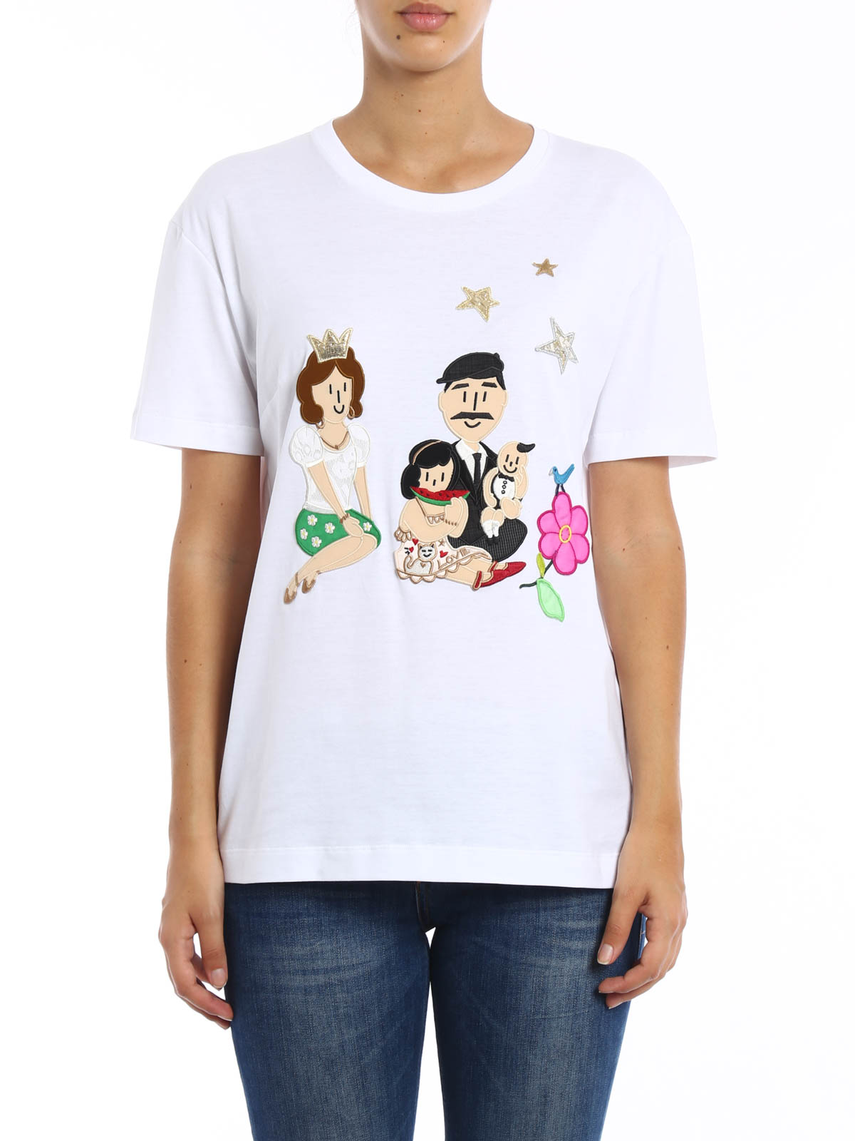 dg family patch t shirt by dolce gabbana t shirts ikrix. Black Bedroom Furniture Sets. Home Design Ideas