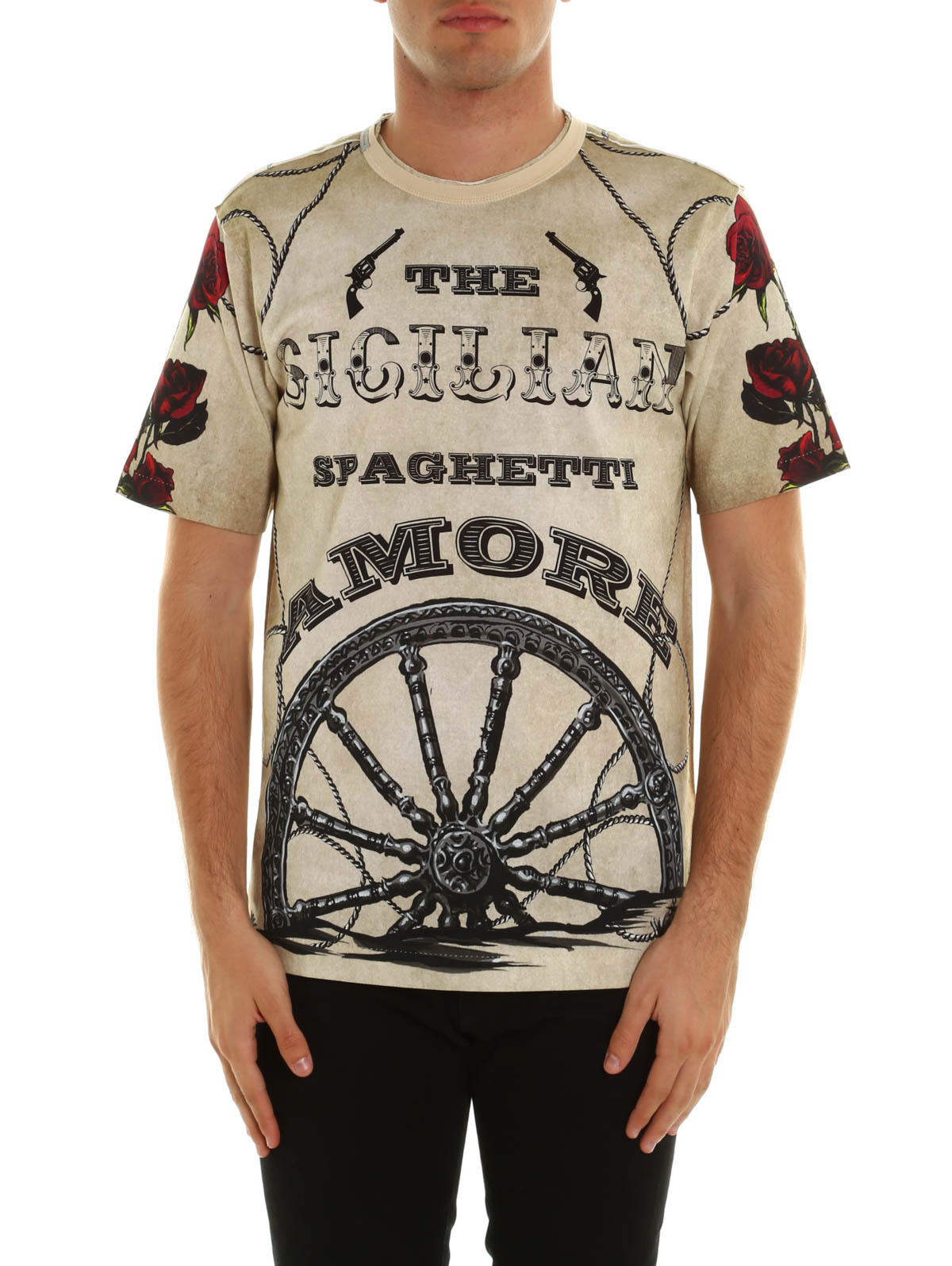 Western printed t shirt by dolce gabbana t shirts ikrix for Dolce and gabbana printed t shirts