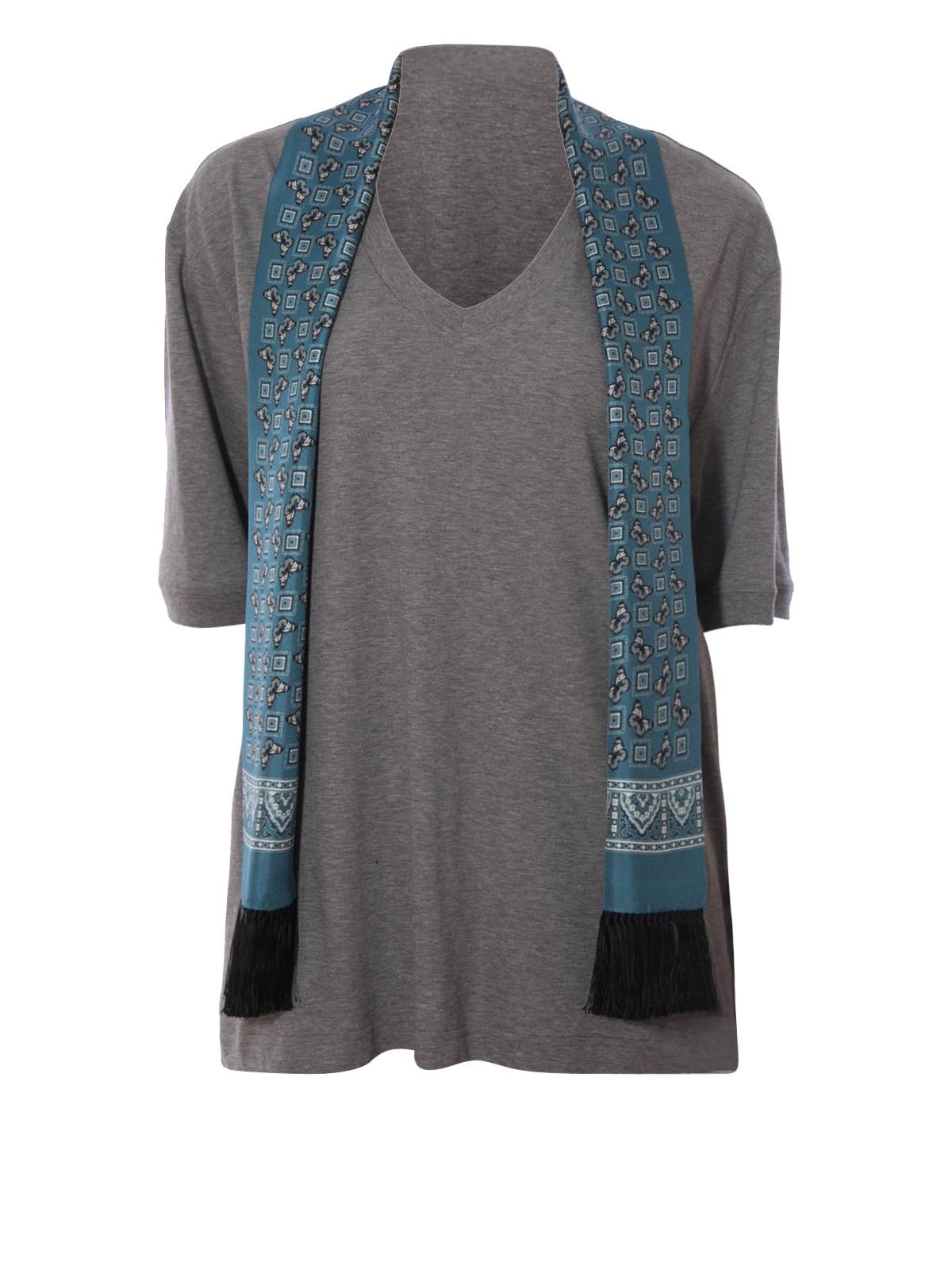 scarf detailed t shirt by dolce gabbana t shirts ikrix. Black Bedroom Furniture Sets. Home Design Ideas