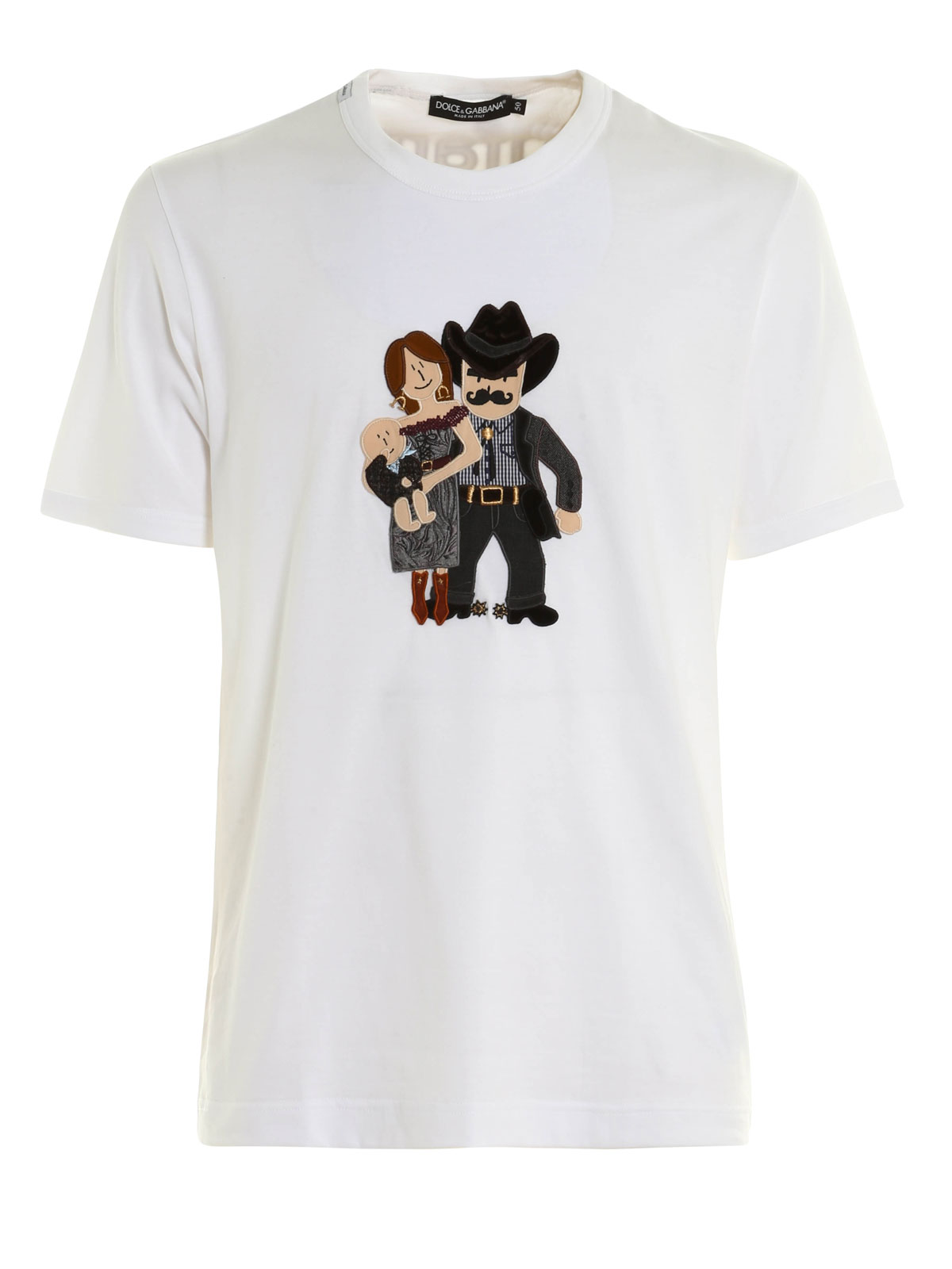 t shirt with dg family patch by dolce gabbana t shirts