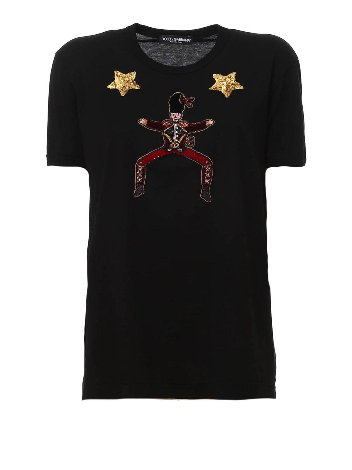 dolce gabbana wonderland embroidery t shirt t shirts f8h50zg7jdvn0000. Black Bedroom Furniture Sets. Home Design Ideas
