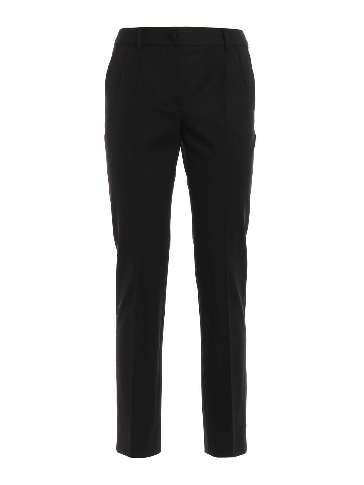 DOLCE   GABBANA  Pantalons élégants - Pantalon Ajusté Noir Pour Femme c3b6e76c8be6