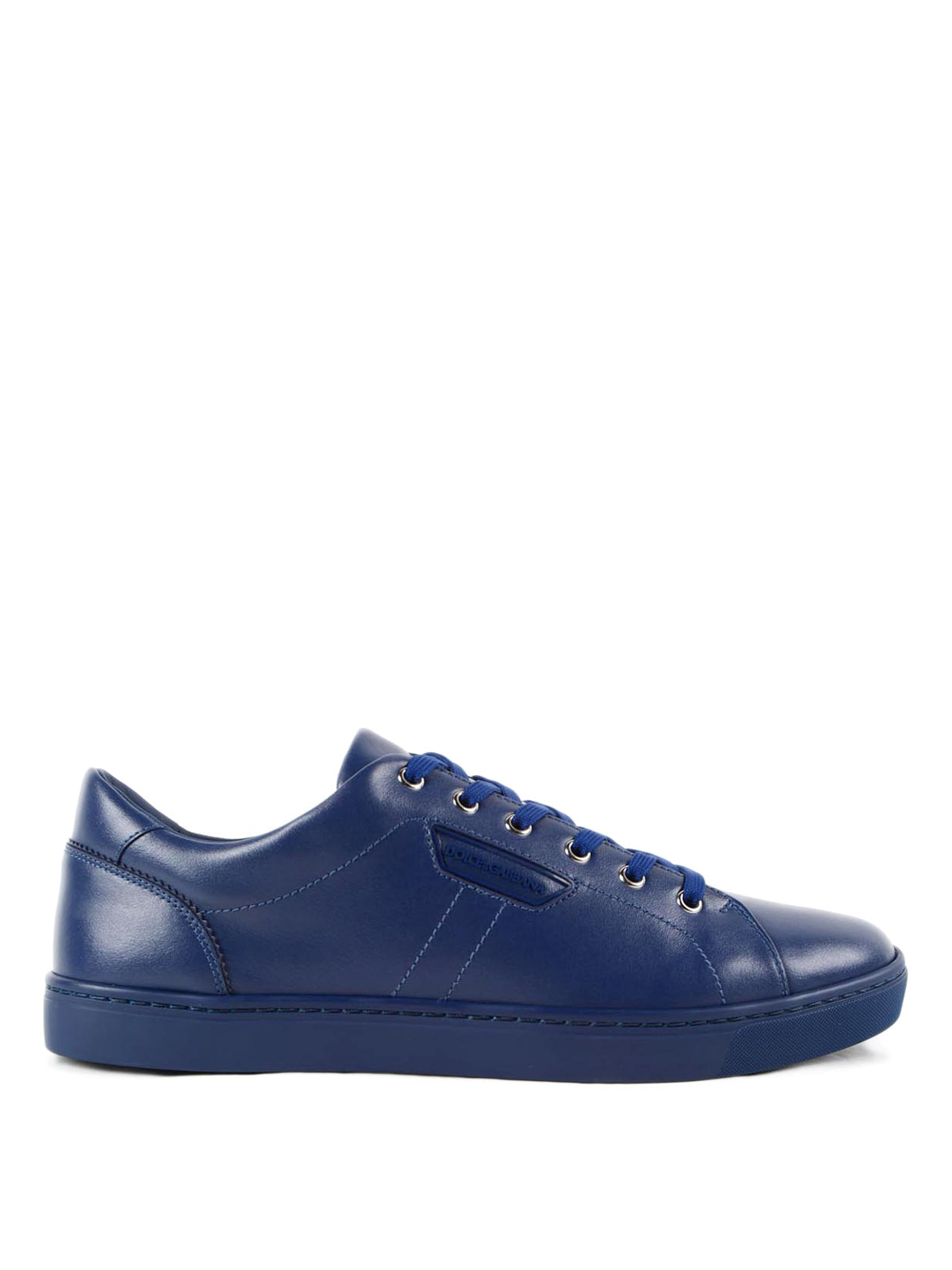 logo leather sneakers by dolce gabbana trainers ikrix. Black Bedroom Furniture Sets. Home Design Ideas