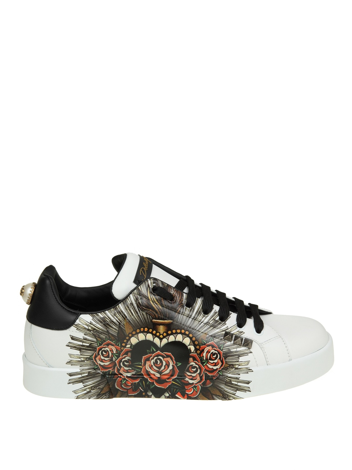 5cc3192675ca Dolce   Gabbana - Portofino printed leather sneakers - trainers ...