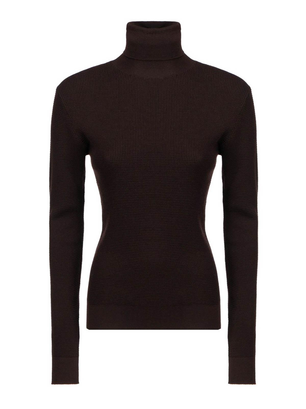 Dolce & Gabbana Silk-cashmere Blend Turtleneck In Black
