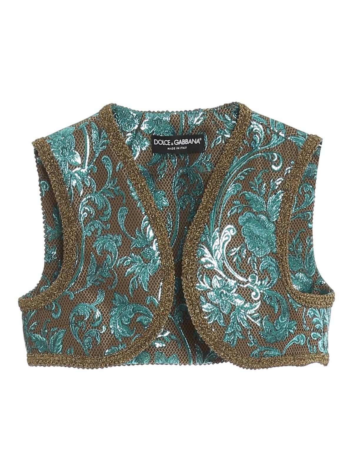 Dolce & Gabbana Jackets DAMASK CROPPED GILET