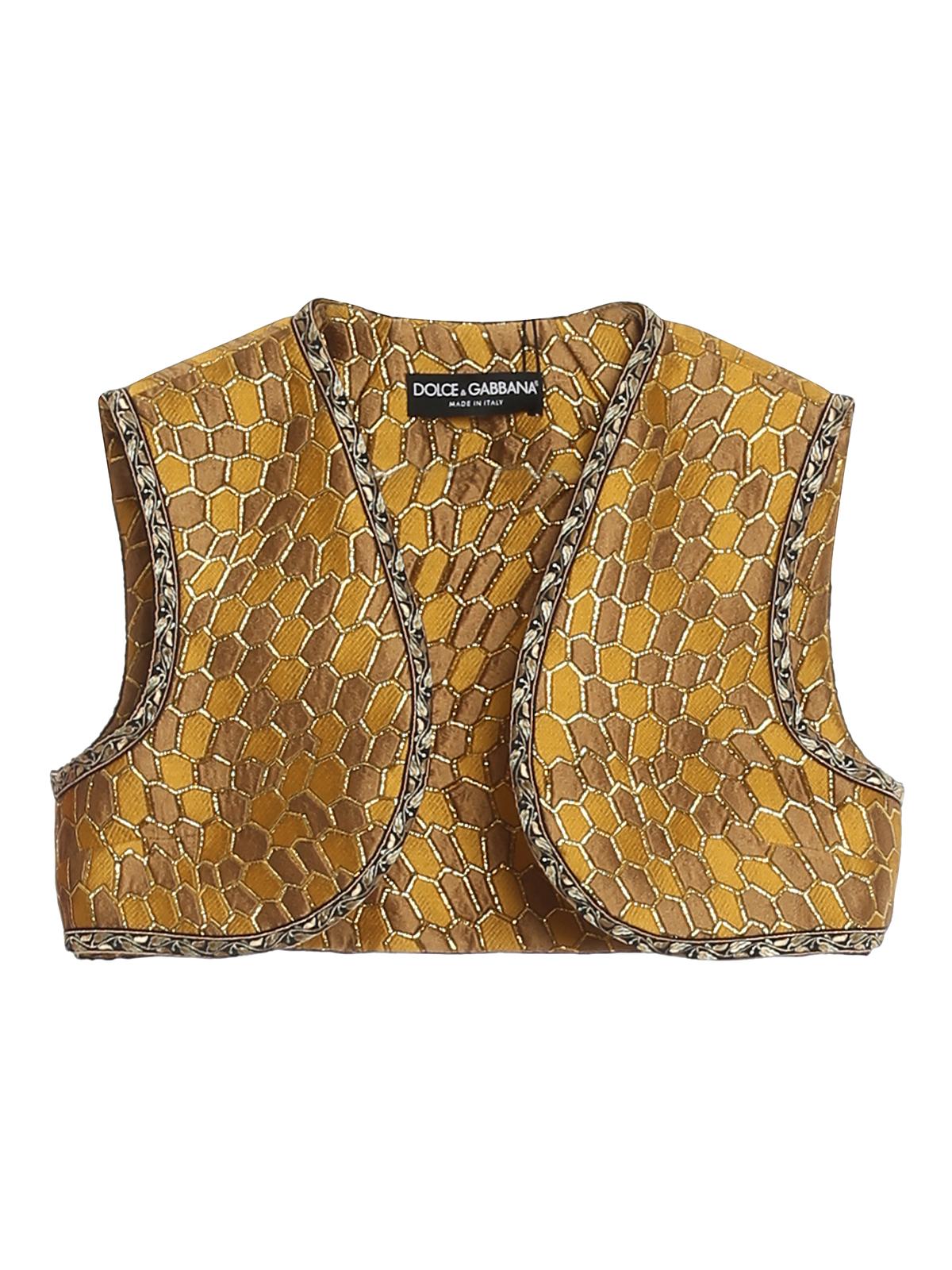 Dolce & Gabbana Vests HONEYCOMB PATTERNED GILET