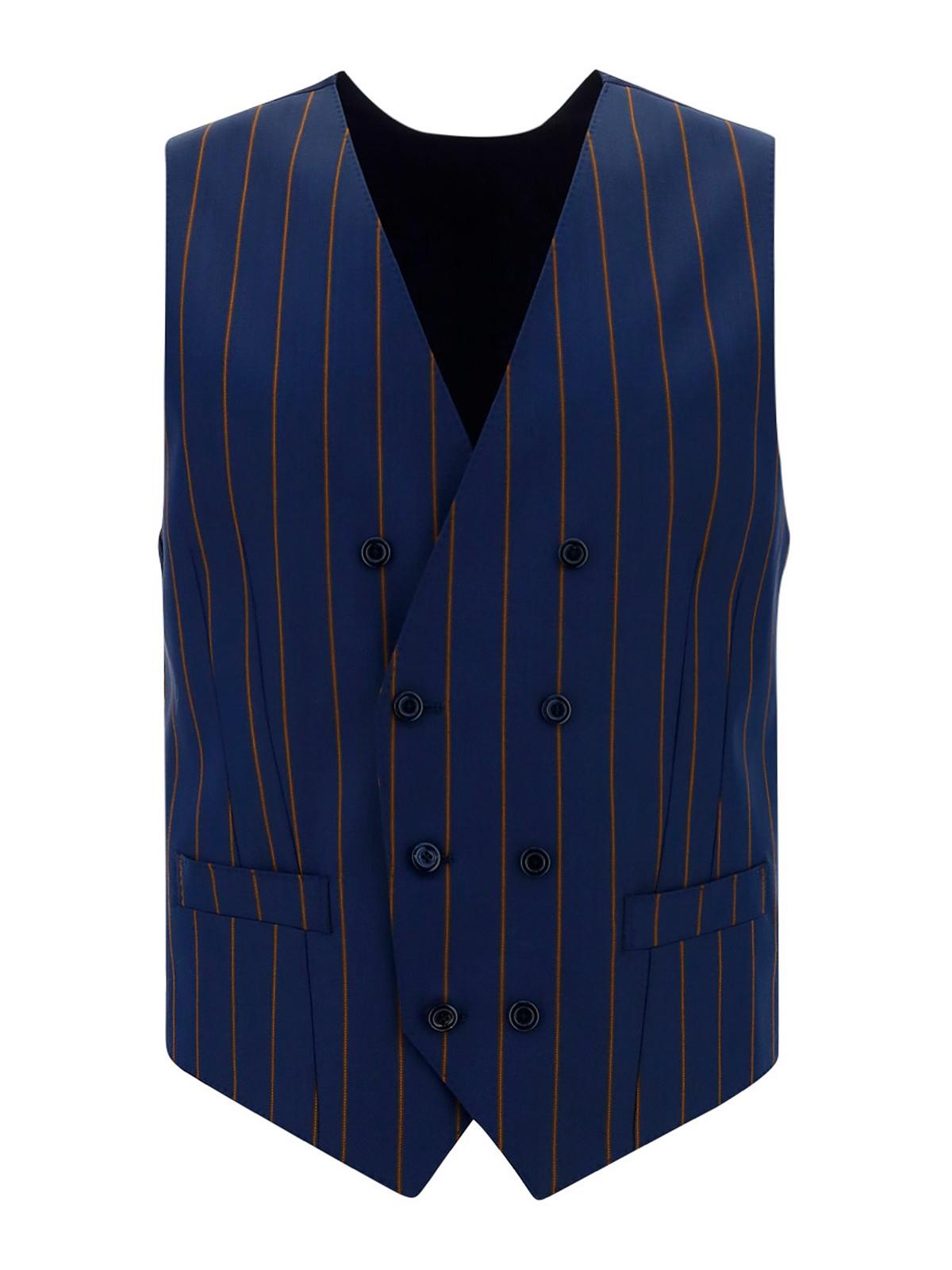 Dolce & Gabbana Wools VIRGIN WOOL STRIPED VEST