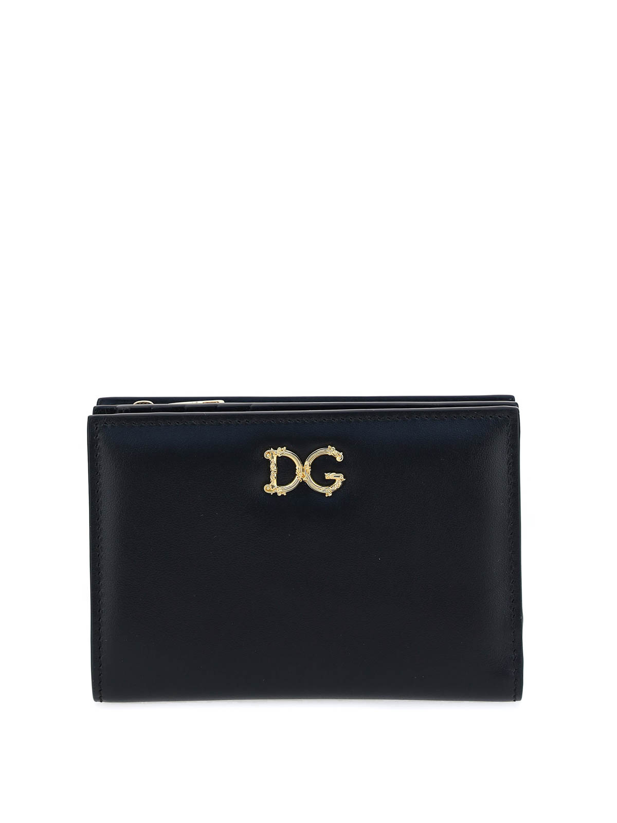 Dolce & Gabbana DG PLAQUE LEATHER WALLET