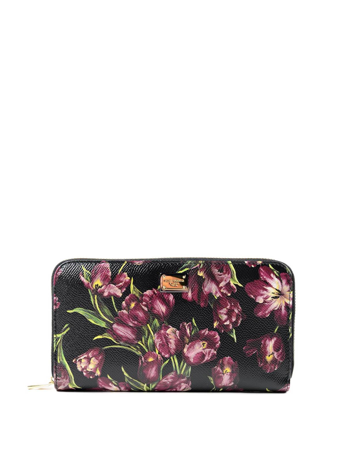 cheaper 9a662 fb961 Dolce & Gabbana - Portafoglio stampa tulipani - portafogli ...
