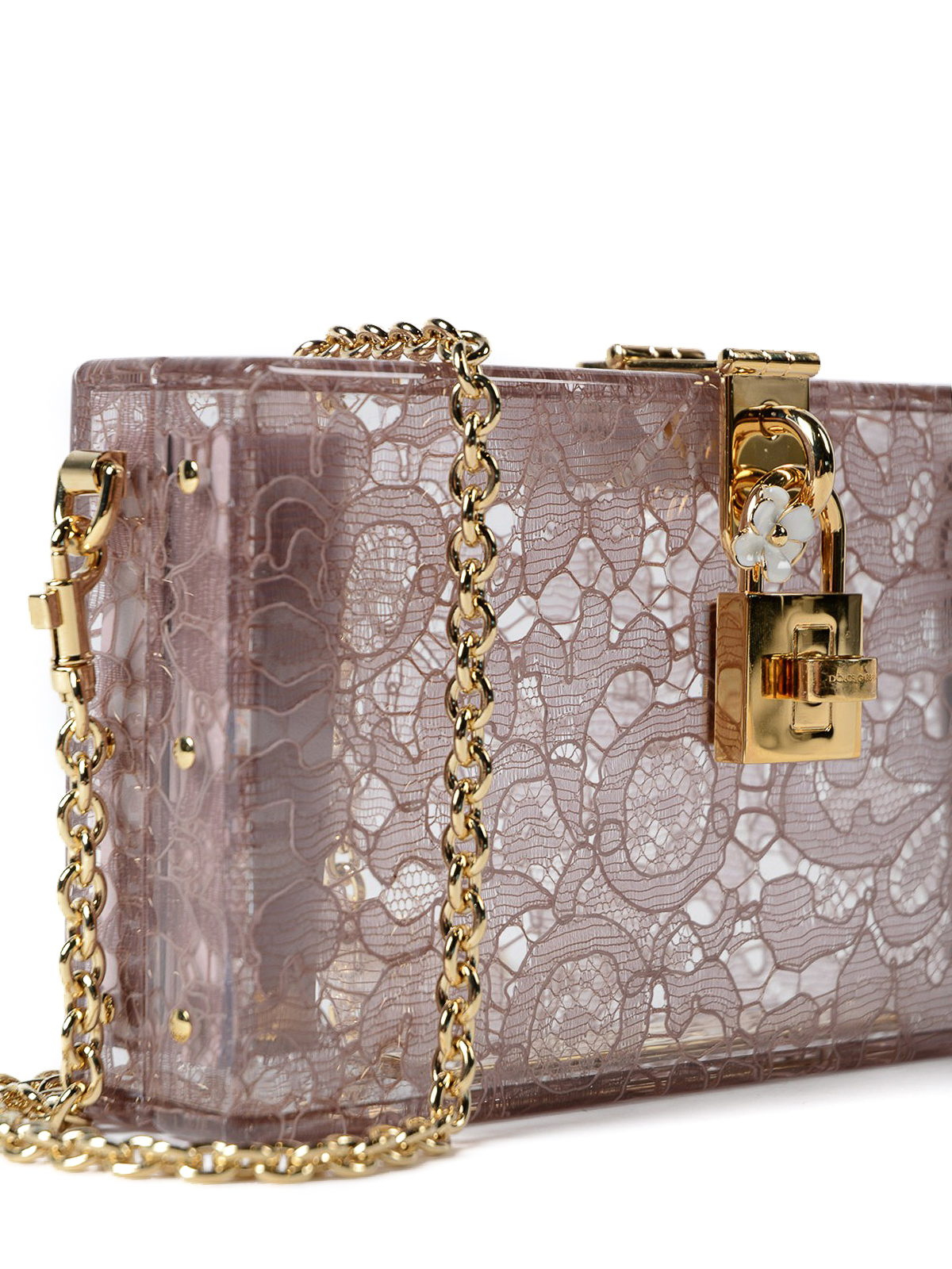 0d94770d79 Dolce & Gabbana - Dolce Box plexi and lace clutch - clutches ...