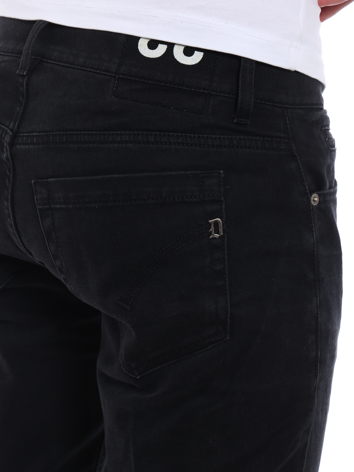Dondup Jeans George in denim nero jeans skinny UP232