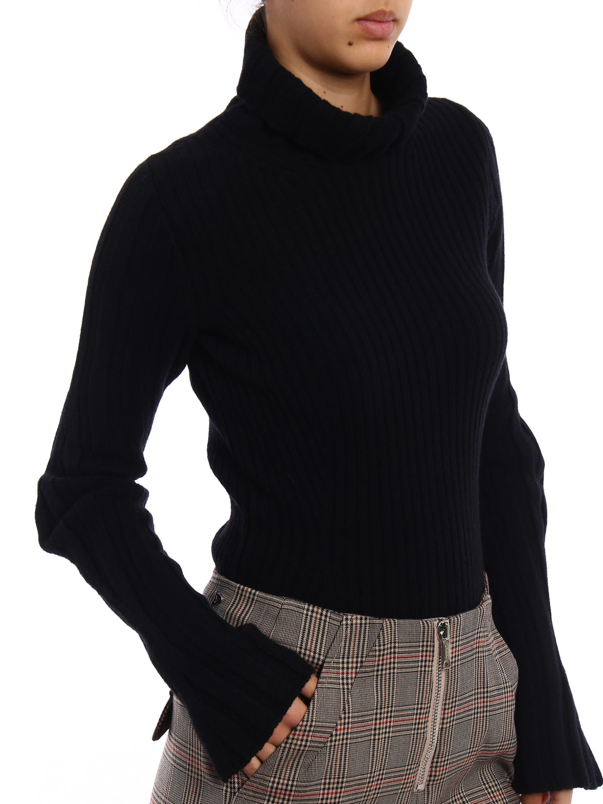 d1263bc416 Dondup - Dolcevita nero in lana cashmere - maglia a collo alto e ...