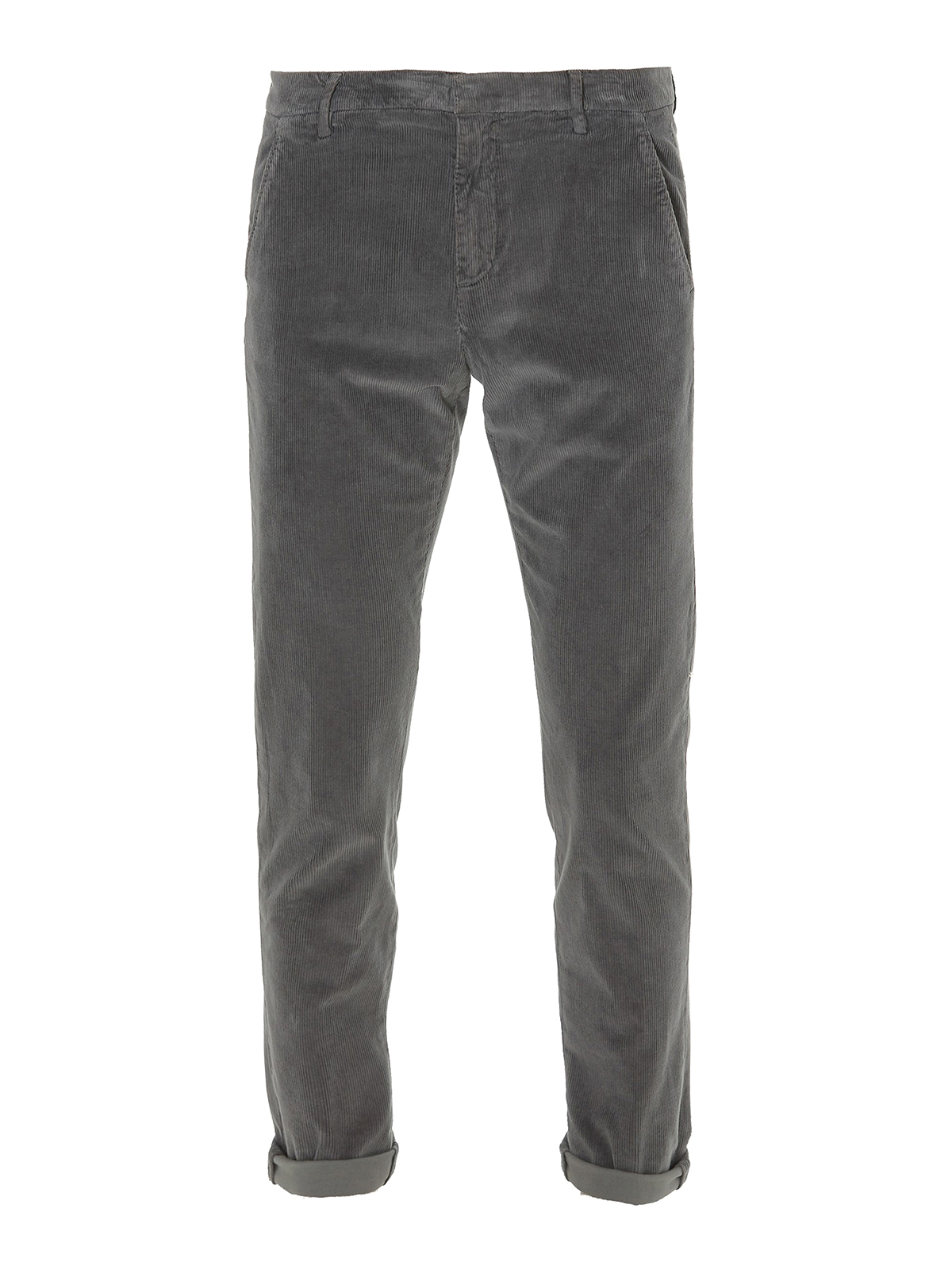 Dondup Corduroy Grey Chino Trousers