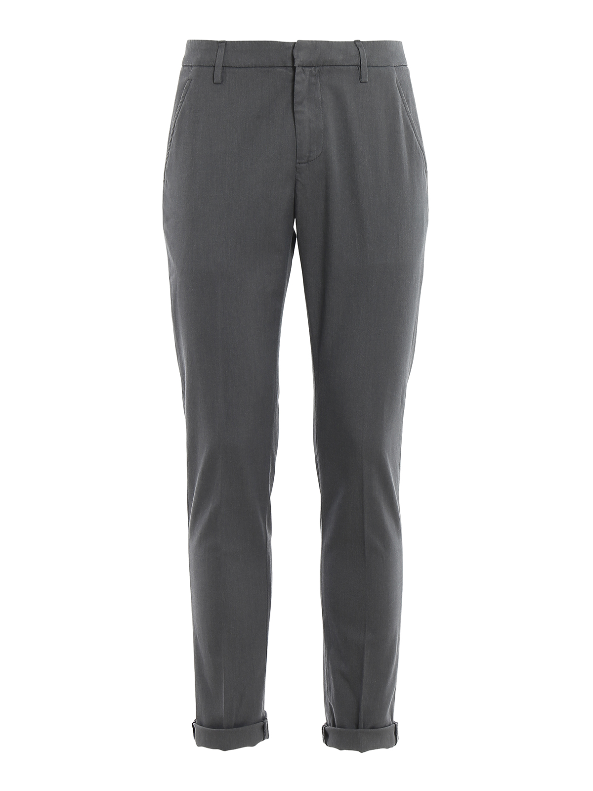 Dondup Gaubert Melange Trousers In Grey