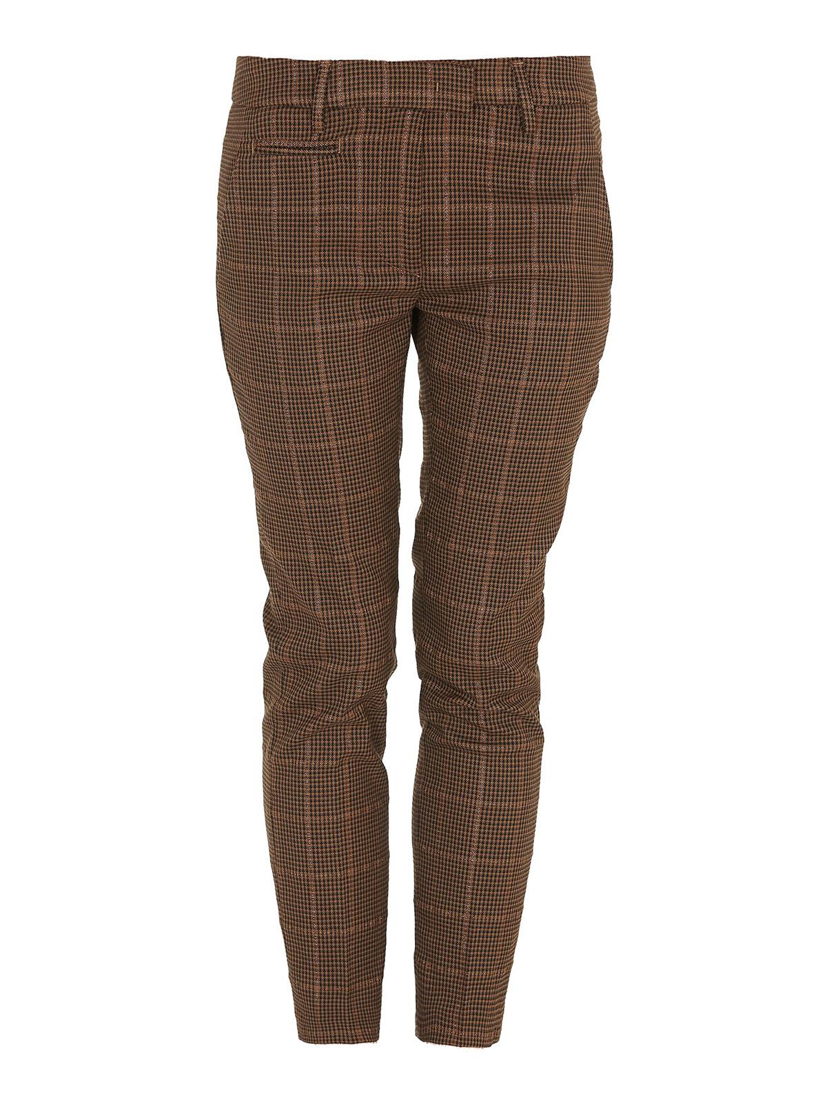 Dondup LUREX PRINCE OF WALES PATTERNED PANTS