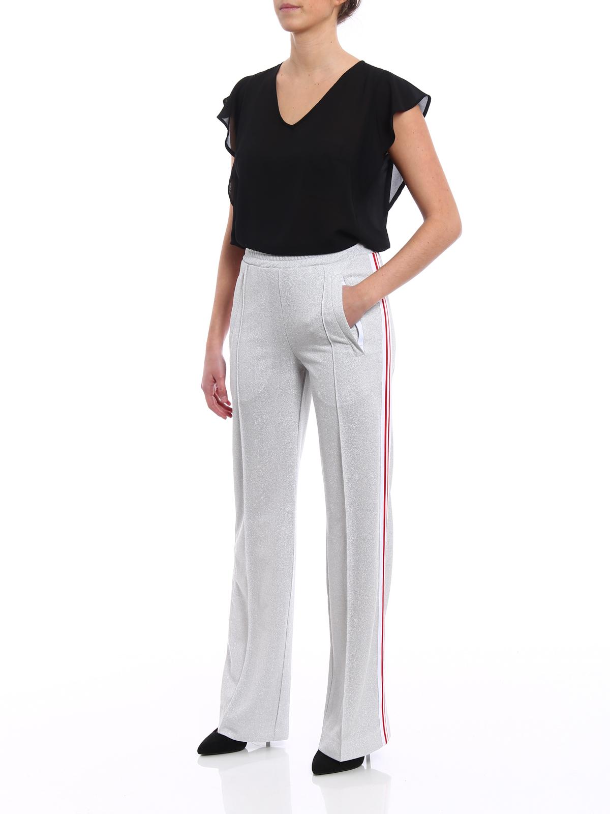 7932fefa6dde0c DONDUP: pantaloni casual online - Pantaloni jogging in lurex argento