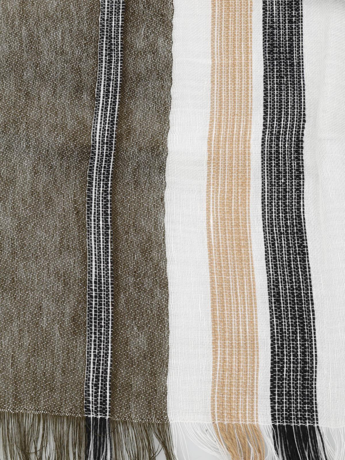 3bb93a85c0 Dondup - Sciarpa in lino, viscosa e cotone - sciarpe e foulard ...