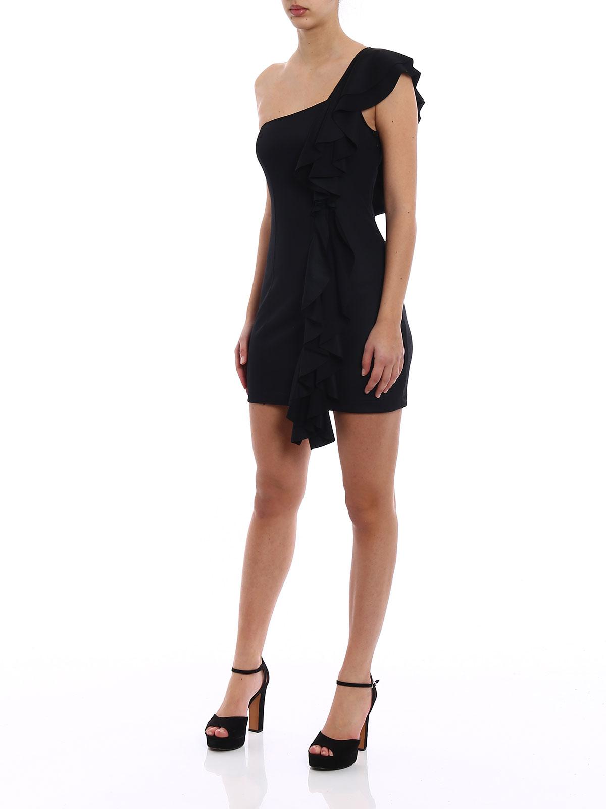 Dondup Vestido Corto Negro Vestidos Cortos A810