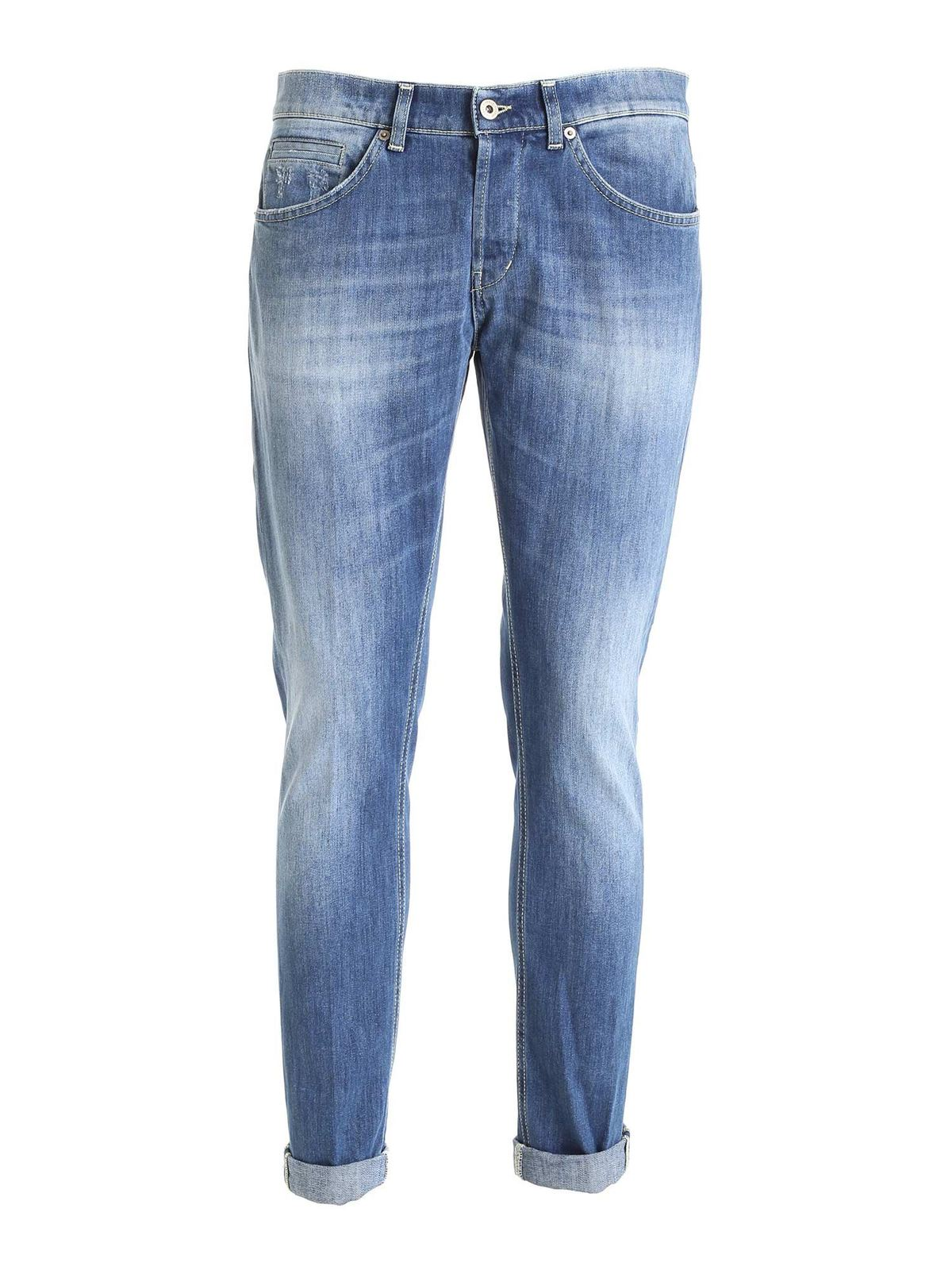 Dondup Cottons GEORGE JEANS IN LIGHT BLUE