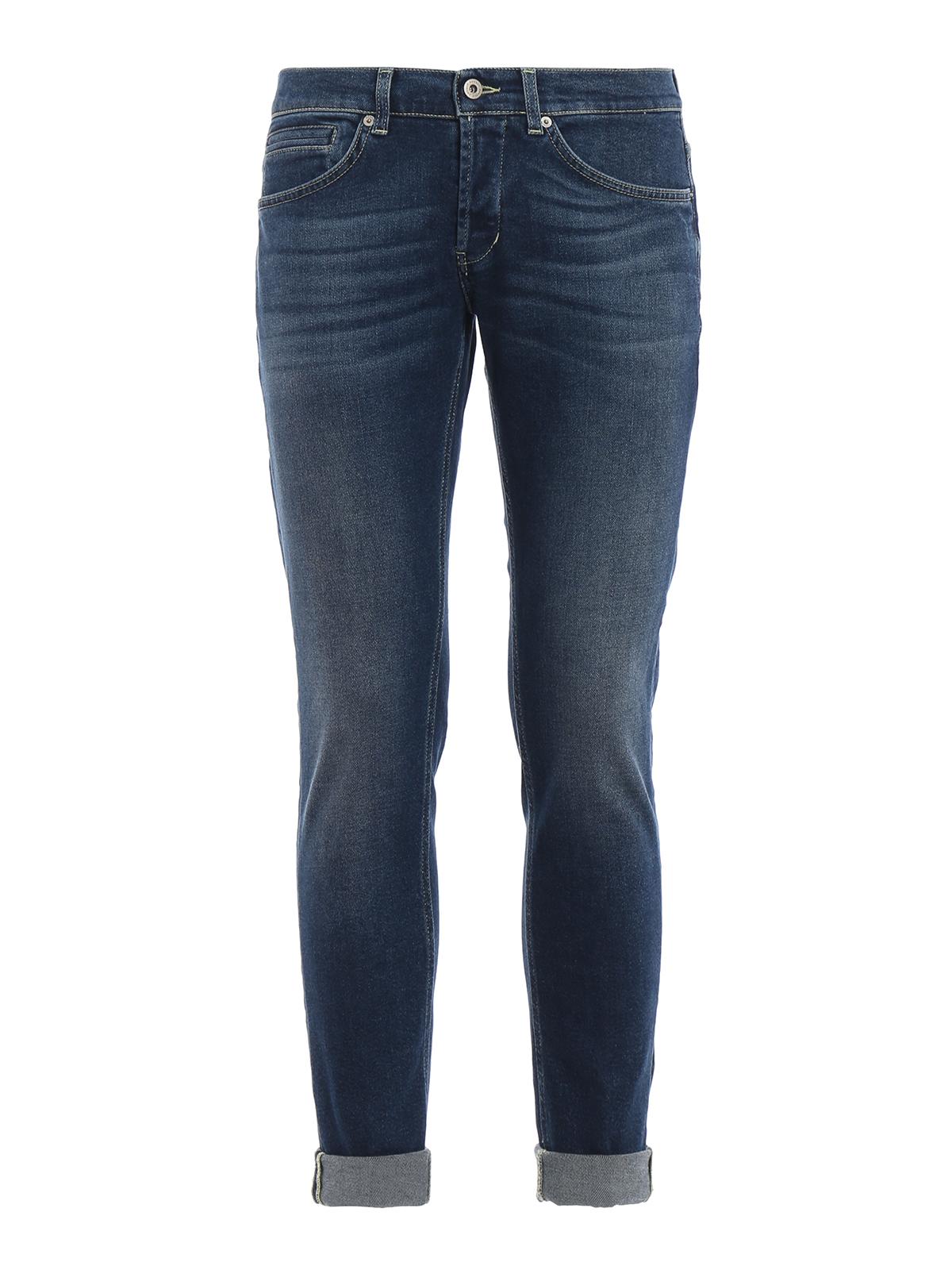 Dondup Mens UP232DS0189T14G800 Blue Cotton Jeans