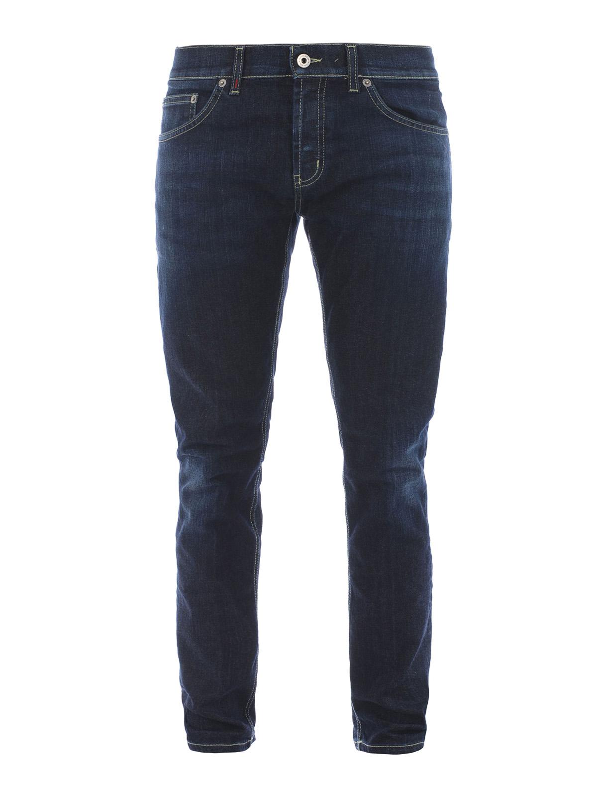 mius stretch denim slim jeans by dondup straight leg jeans ikrix. Black Bedroom Furniture Sets. Home Design Ideas