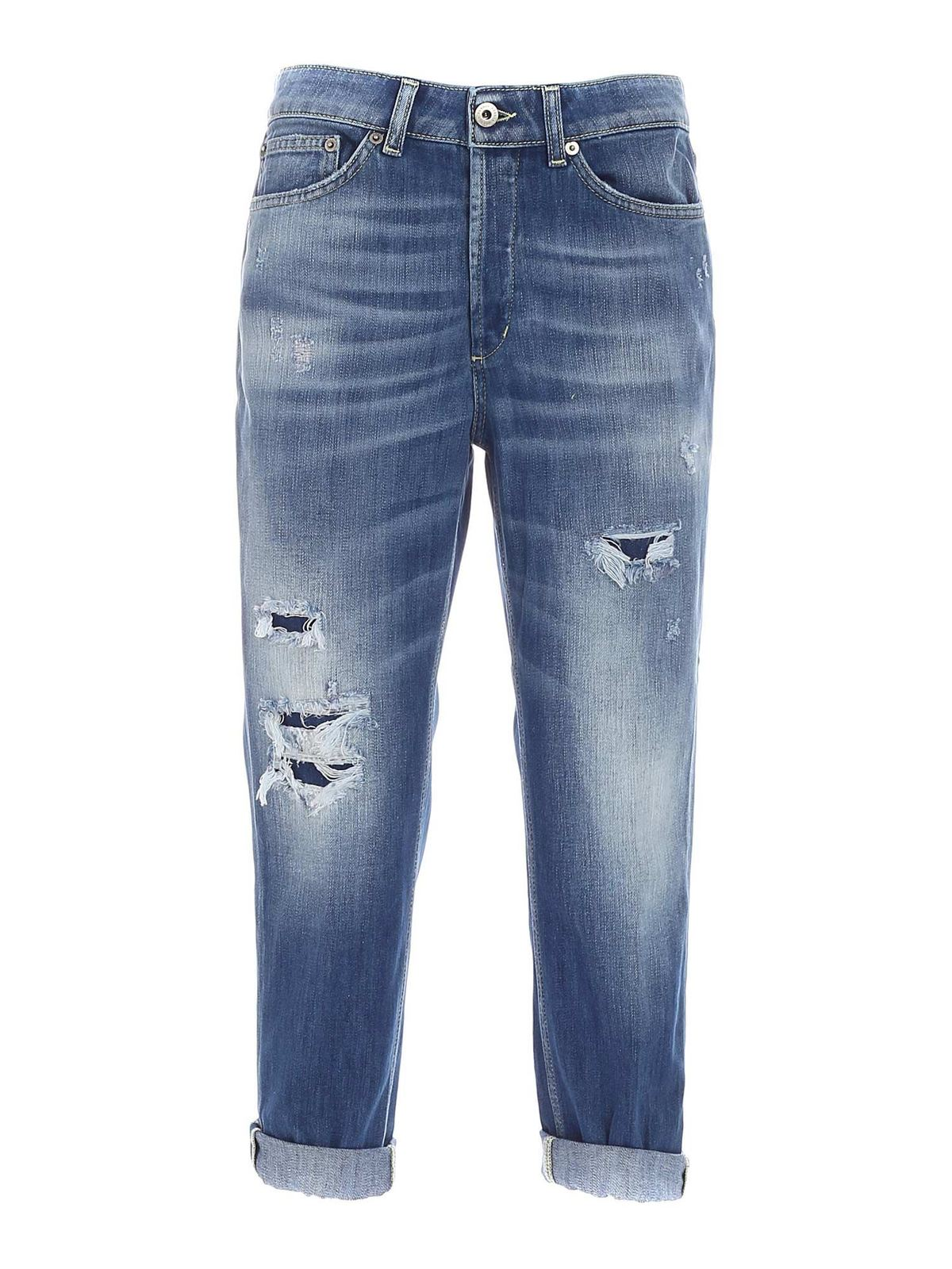Dondup Cottons ZOE JEANS IN BLUE